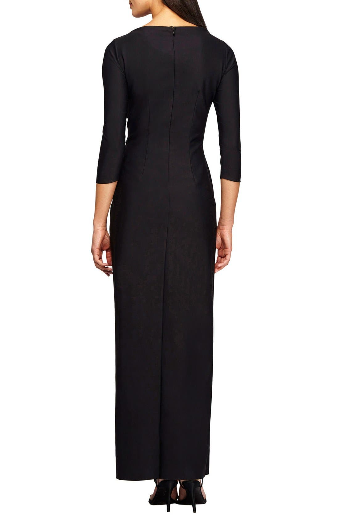 Alternate Image 2  - Alex Evenings Embellished Stretch Gown