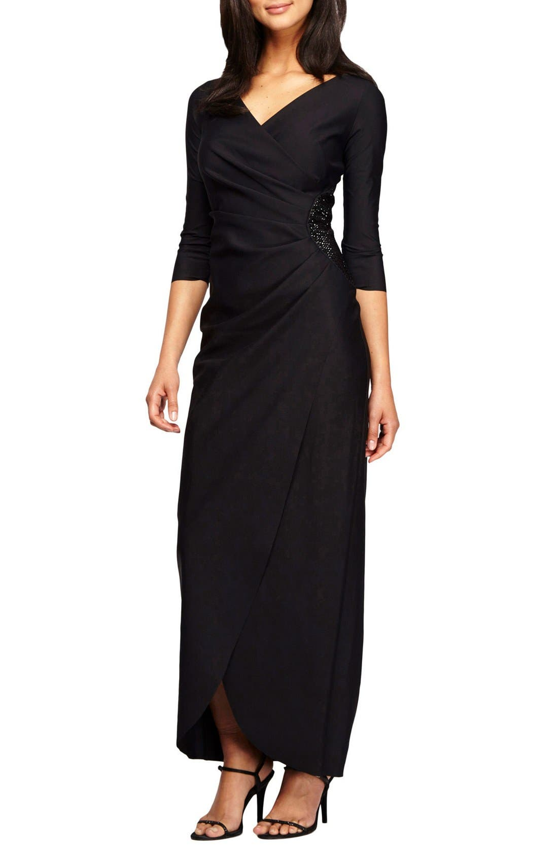 Main Image - Alex Evenings Embellished Stretch Gown