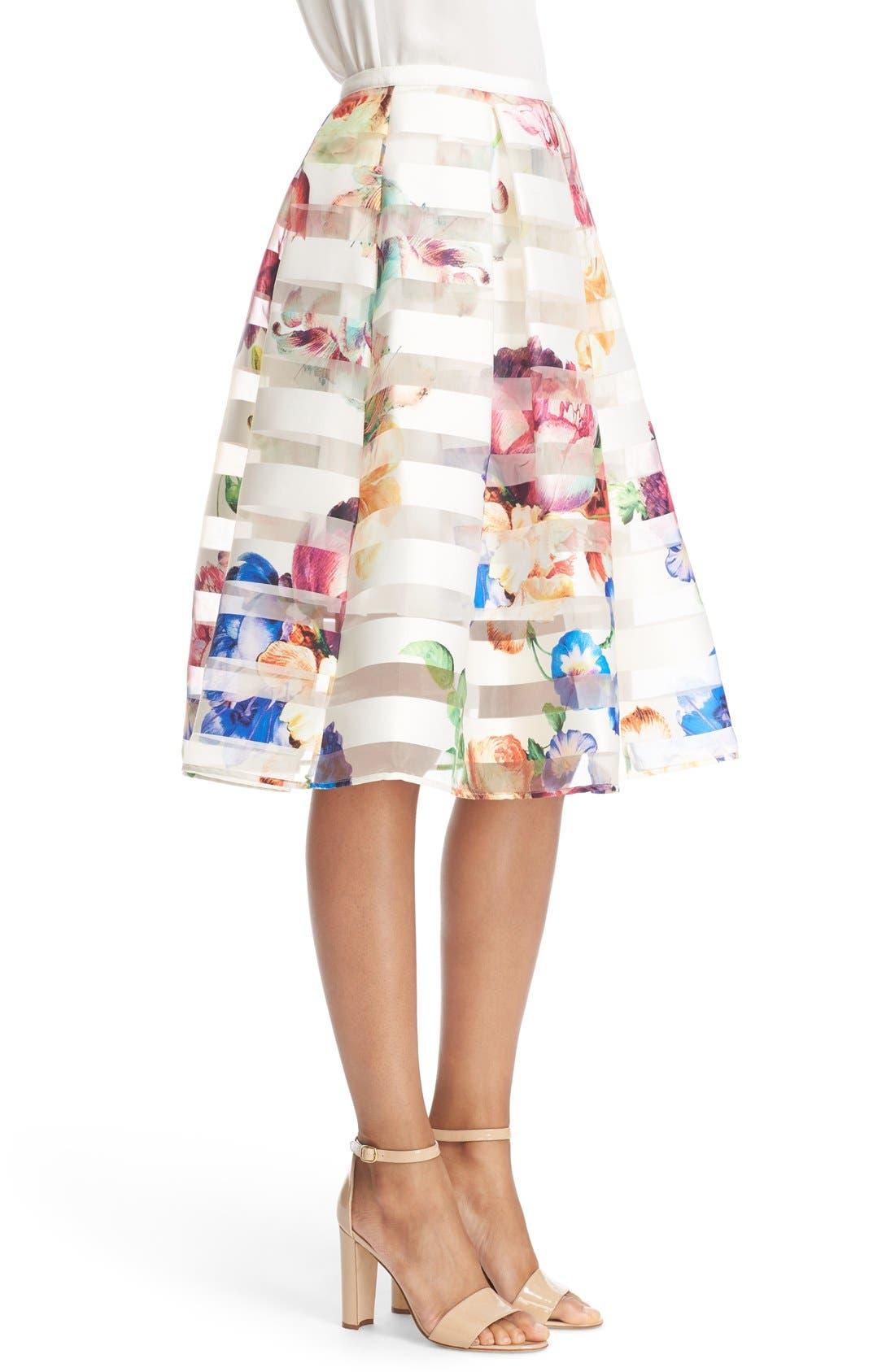 Alternate Image 3  - Ted Baker London 'Hoona' Burnout Stripe Pleated Skirt