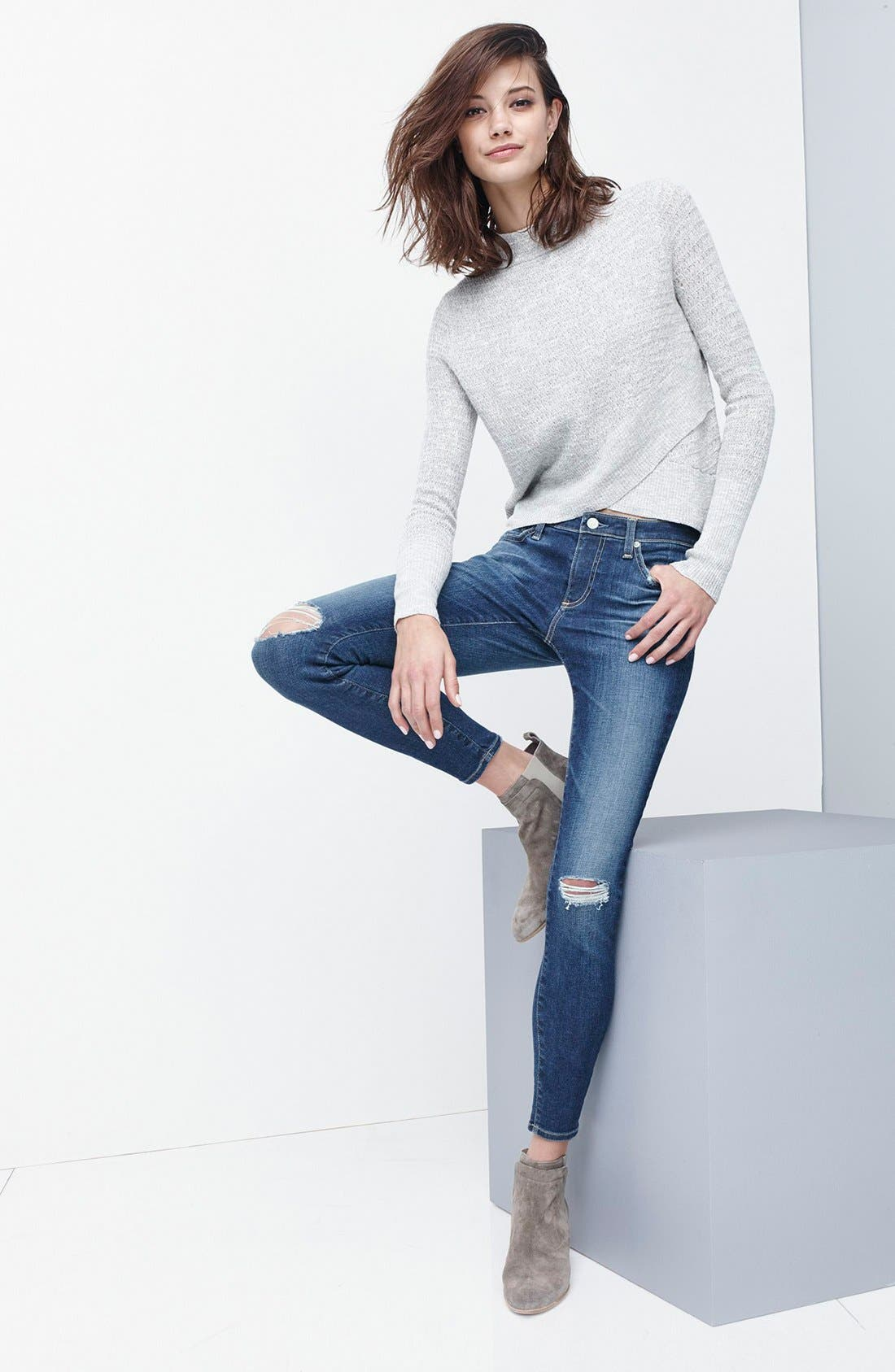 Alternate Image 6  - AG The Legging Ankle Jeans (Emanate)