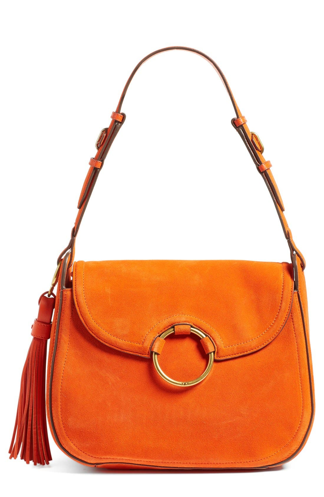 Alternate Image 1 Selected - Tory Burch Leather Shoulder Bag