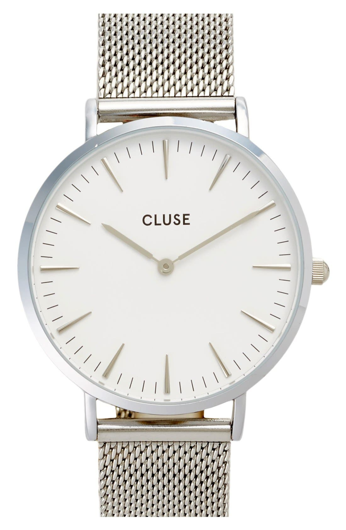 Alternate Image 1 Selected - CLUSE 'La Bohème' Mesh Strap Watch, 38mm