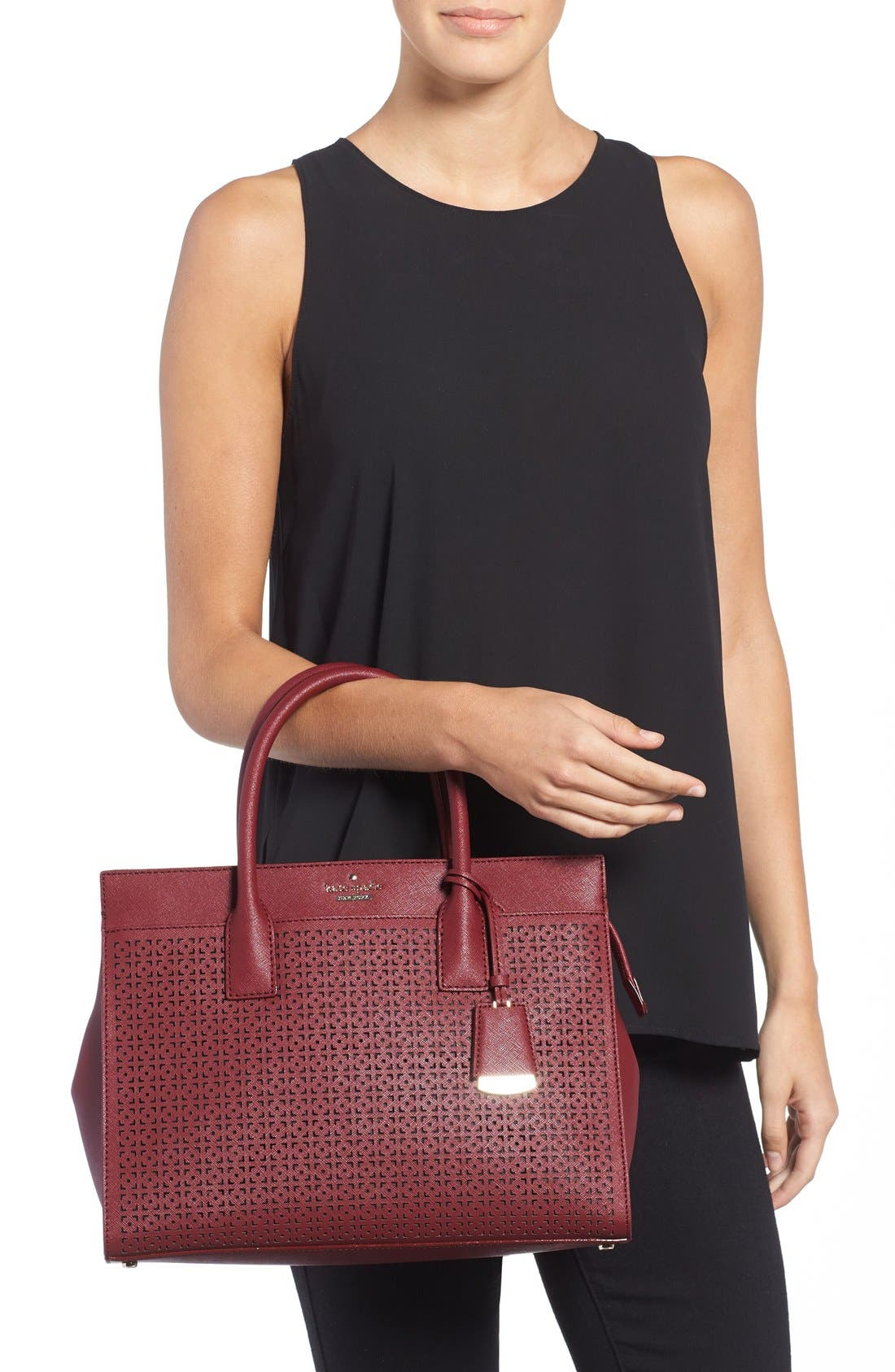 Alternate Image 2  - kate spade new york 'cameron street - candace' perforated satchel