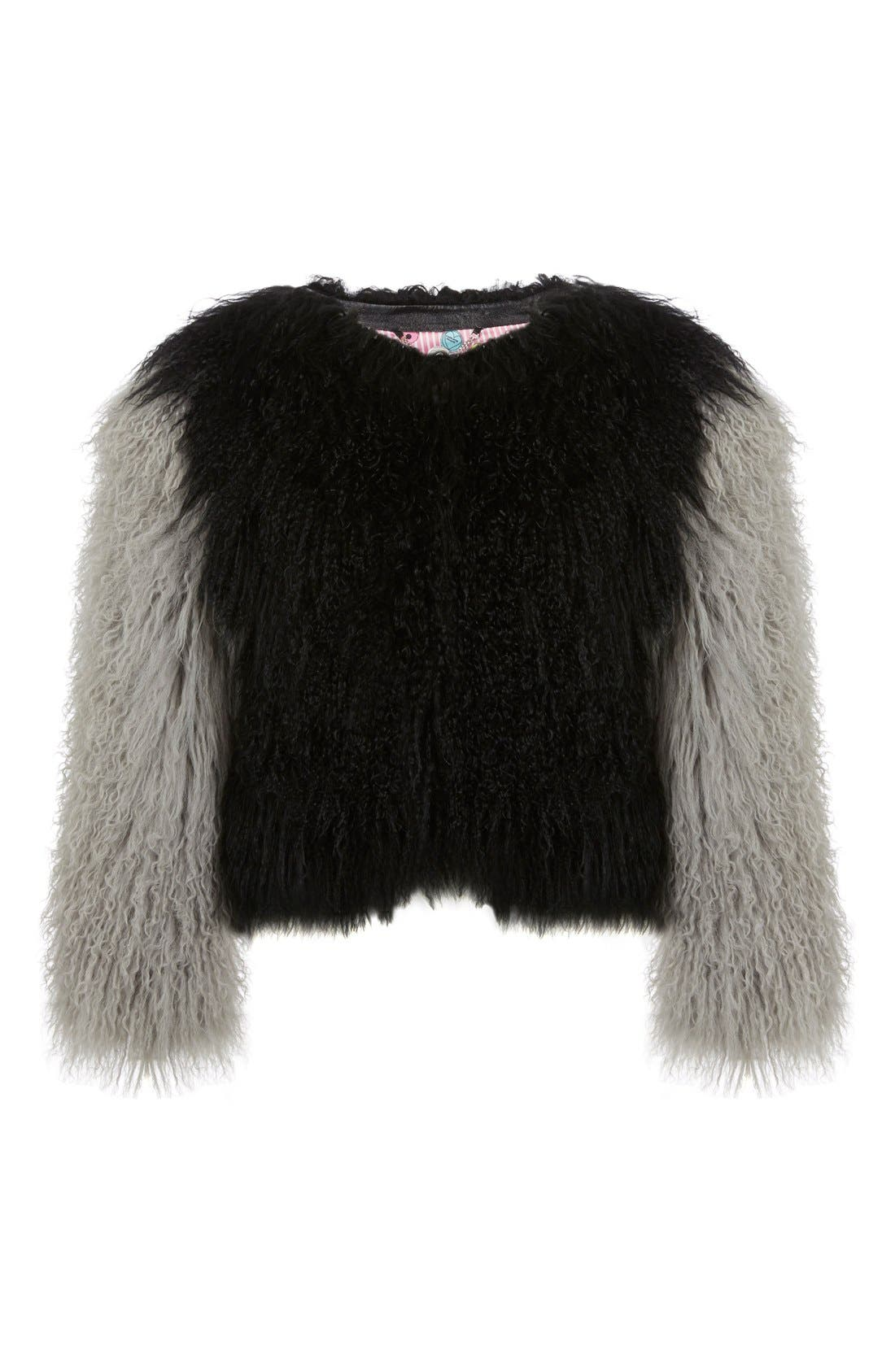 Alternate Image 1 Selected - Charlotte Simone 'Classic Fuzz' Genuine Mongolian Lamb Fur Bolero
