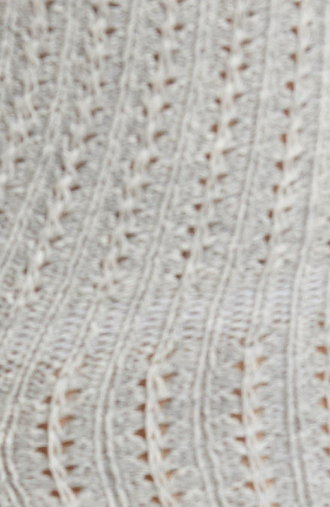 Alternate Image 2  - Peony & Moss Lace TrimCrew Socks