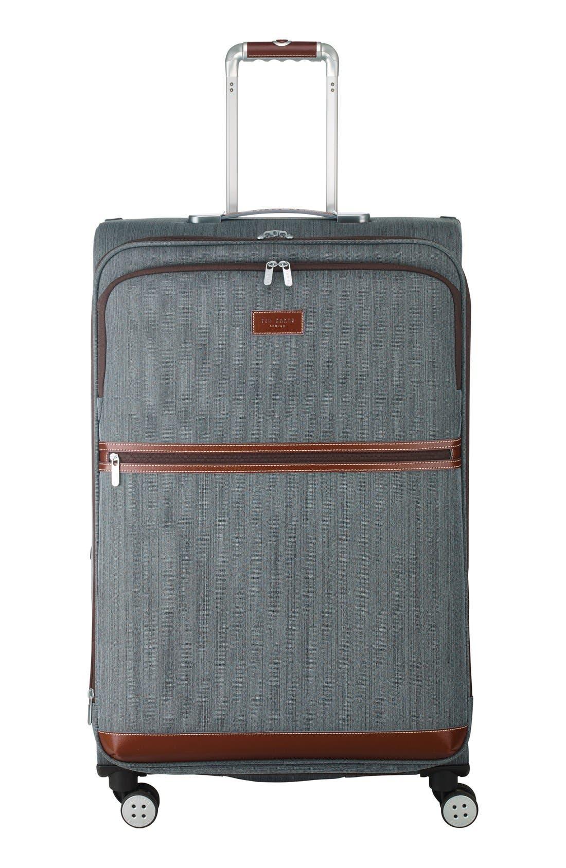 Ted Baker London 'Large Falconwood Grey' Four Wheel Suitcase (31 Inch)