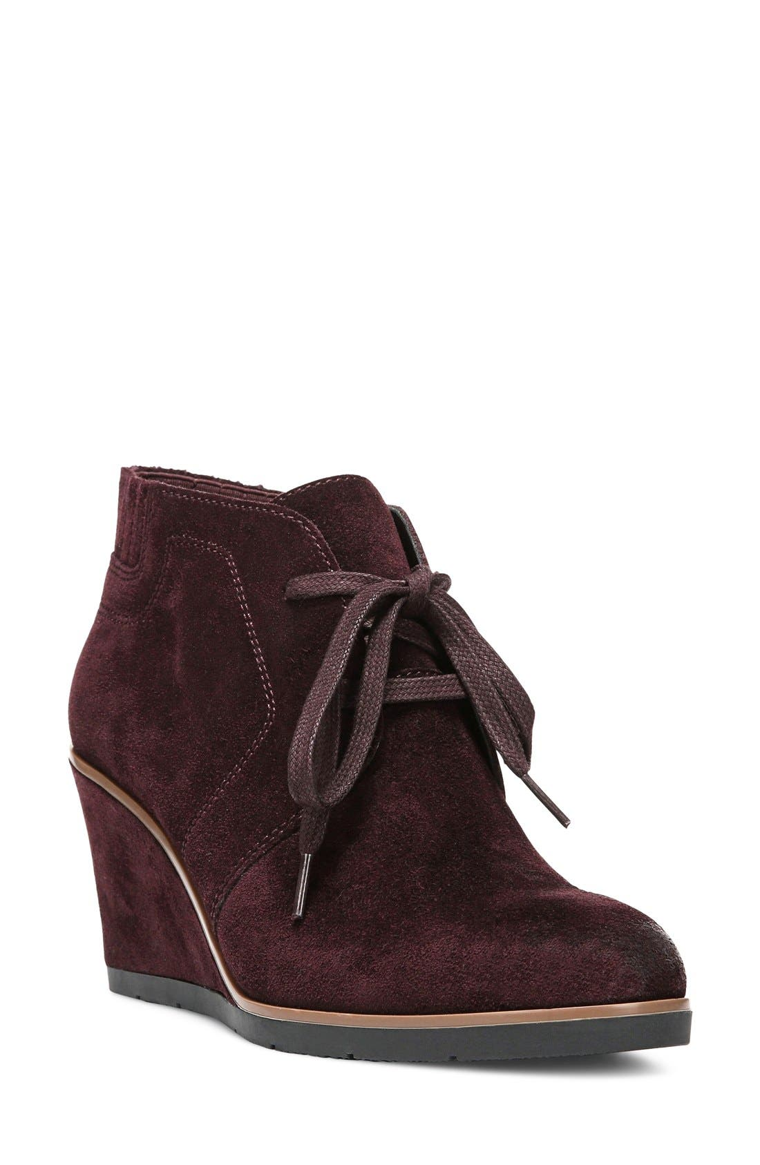 Alternate Image 1 Selected - Franco Sarto 'Austine' Lace Up Wedge Bootie (Women)