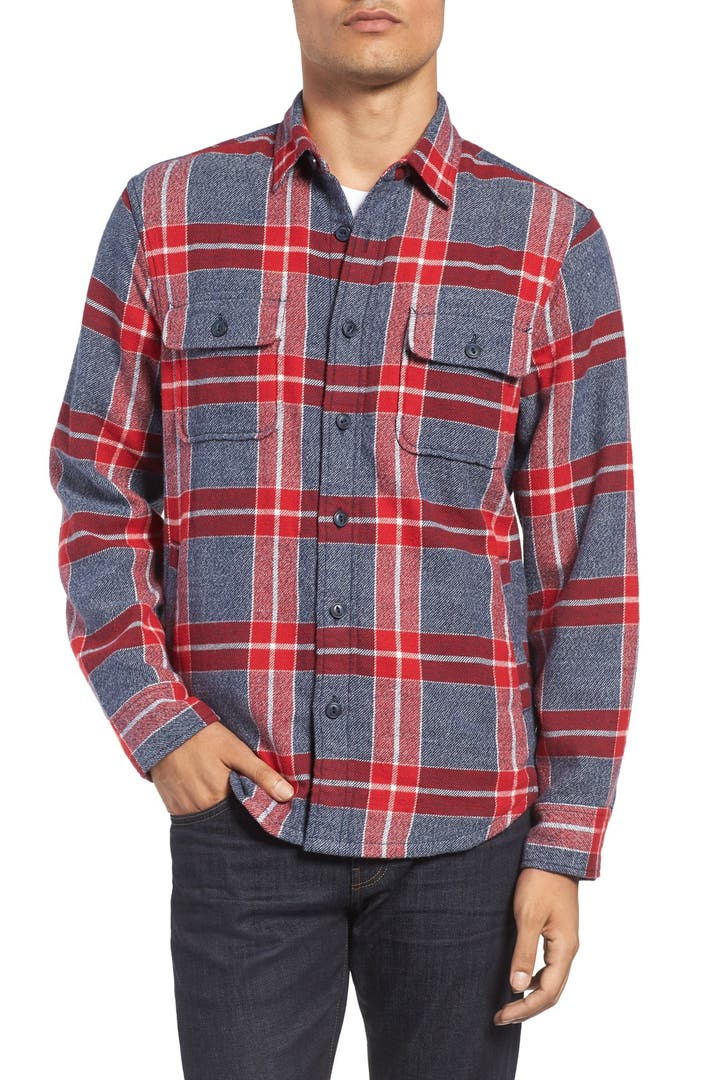 Nordstrom men 39 s shop thermal lined plaid flannel shirt for Mens insulated flannel shirts