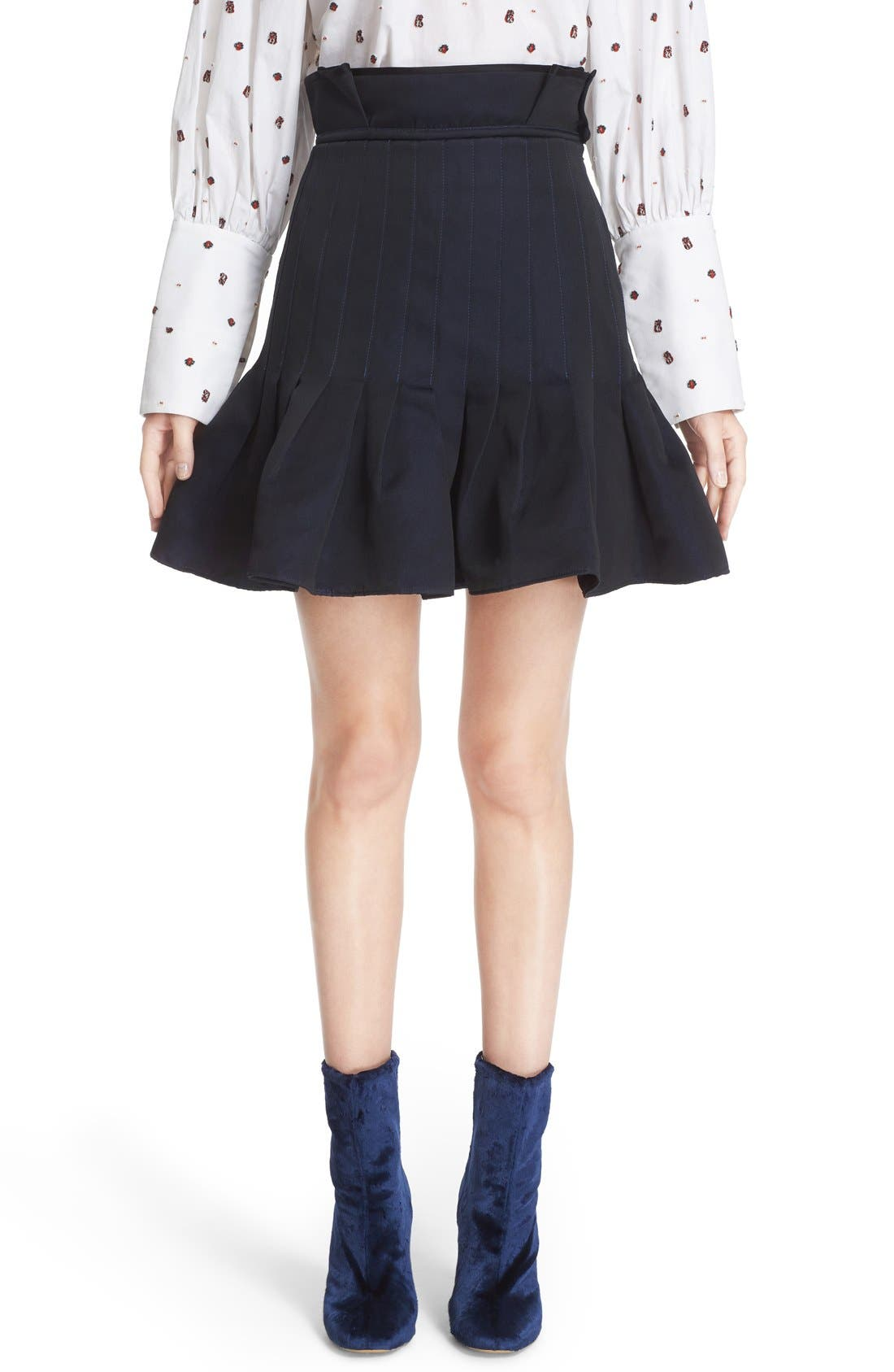 Alternate Image 1 Selected - ELLERY 'Kyoto' Pleated Miniskirt