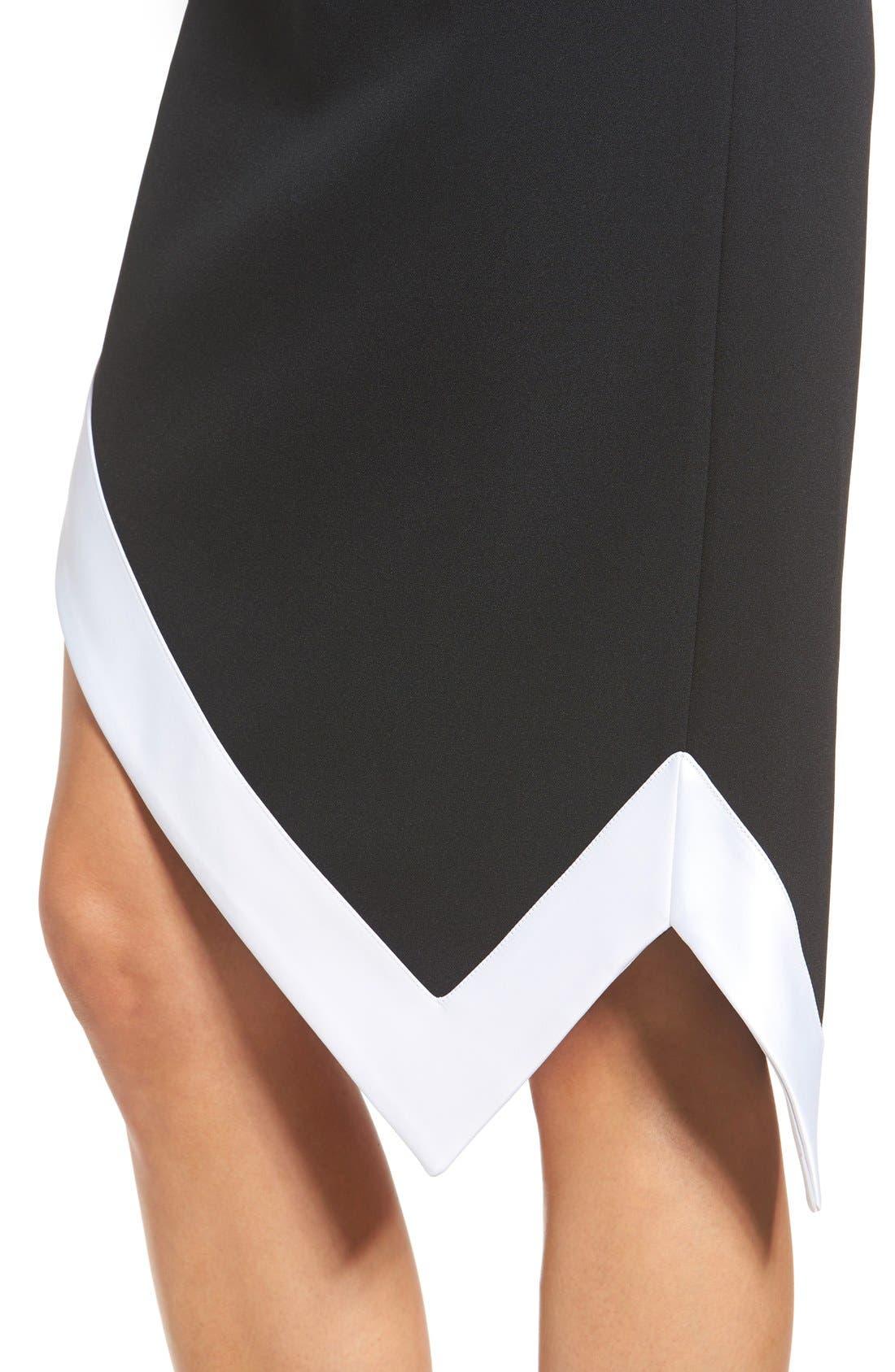 Alternate Image 4  - KENDALL + KYLIE Satin Trim Asymmetrical Skirt