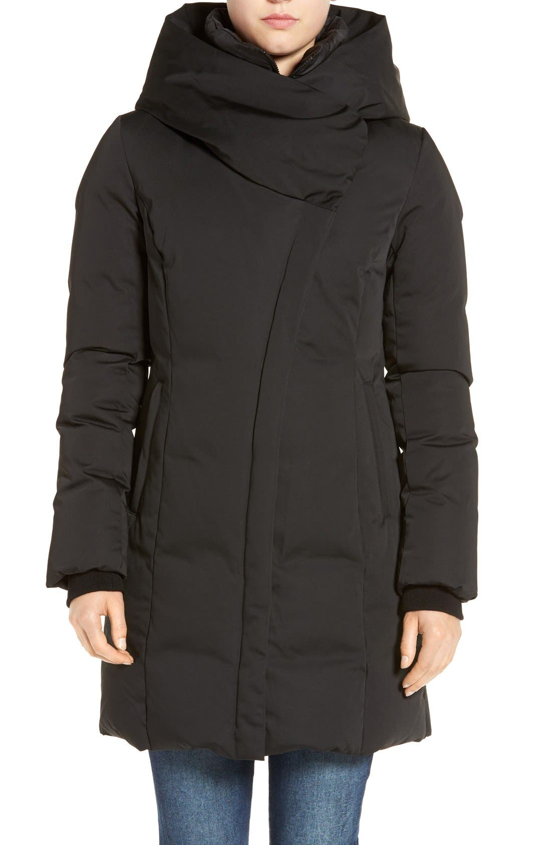 Alternate Image 4  - Soia & Kyo Water Resistant Hooded Down Walking Coat