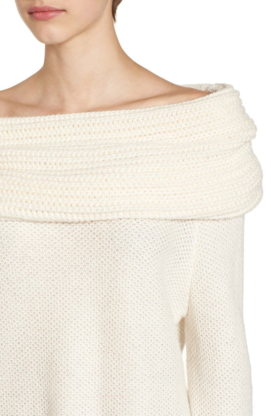 Alternate Image 5  - Sun & Shadow Cowl Off the Shoulder Sweater