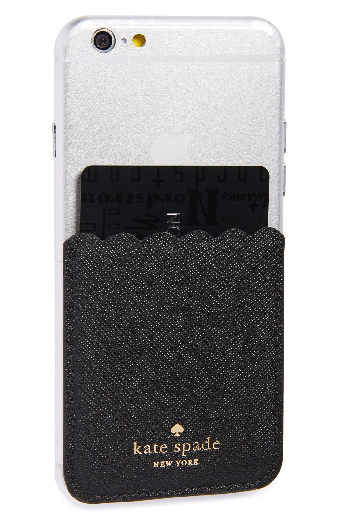 KATE SPADE NEW YORK scallop leather stick-on smartphone