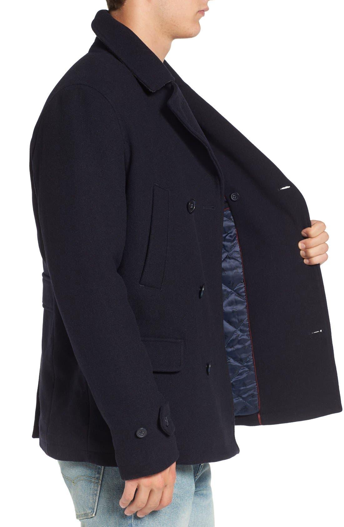 Alternate Image 3  - Original Penguin Wool Blend Peacoat