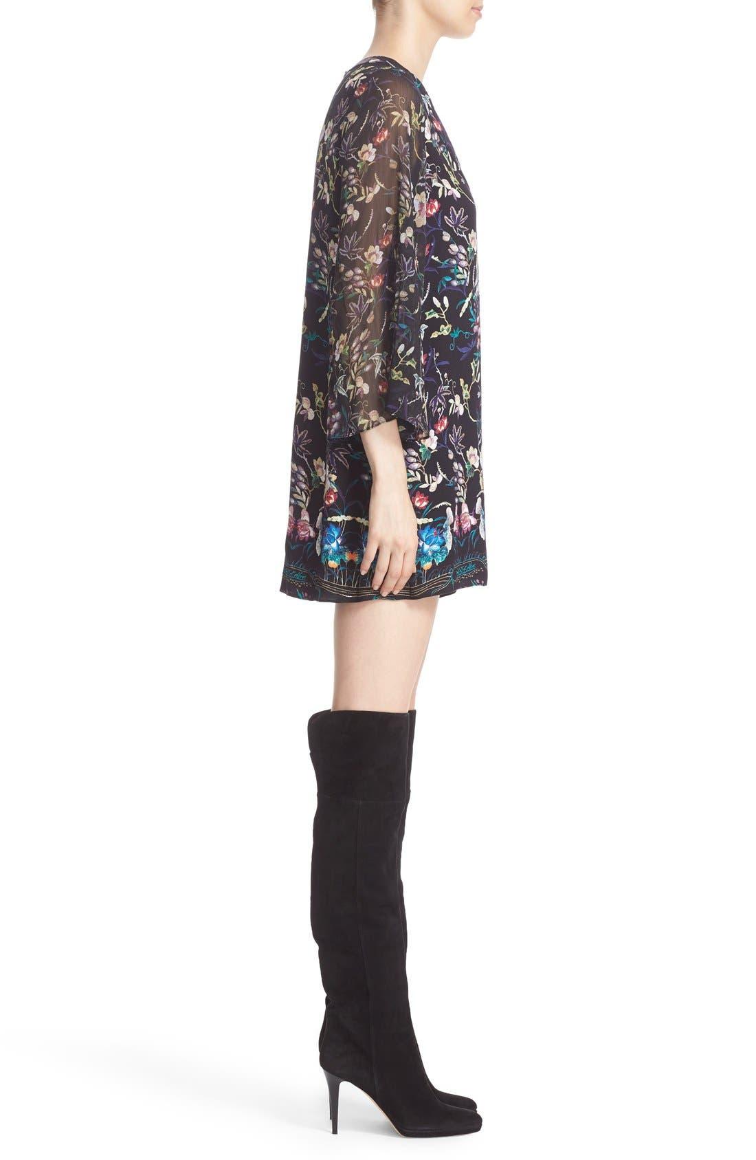 Alternate Image 3  - Alice + Olivia 'Zia' Print Mini Caftan Dress