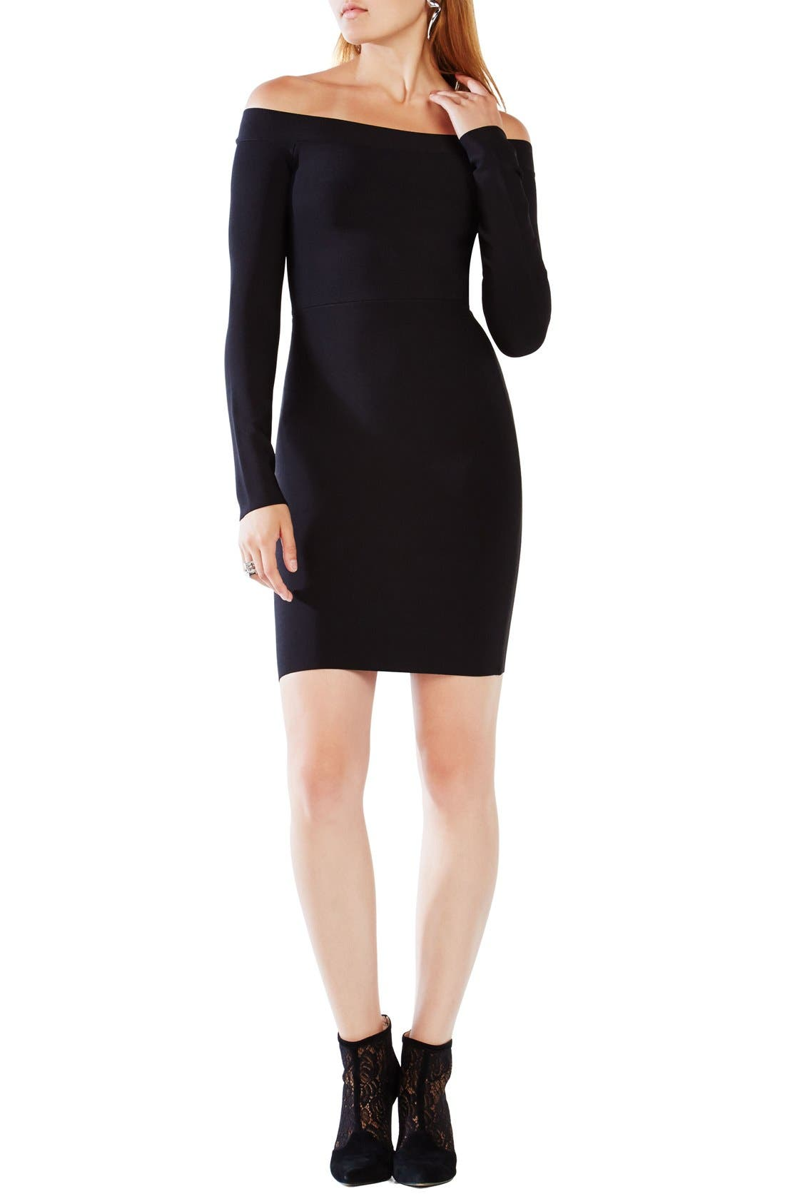 Alternate Image 1 Selected - BCBGMAXAZRIA 'Annabeth' Off the Shoulder Body-Con Dress