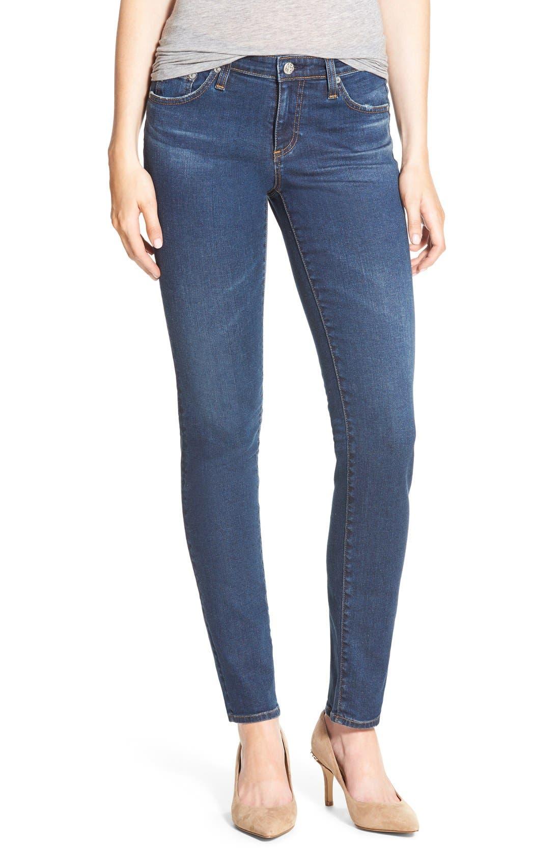 Alternate Image 1 Selected - AG 'The Stilt' Cigarette Leg Jeans (Workroom)