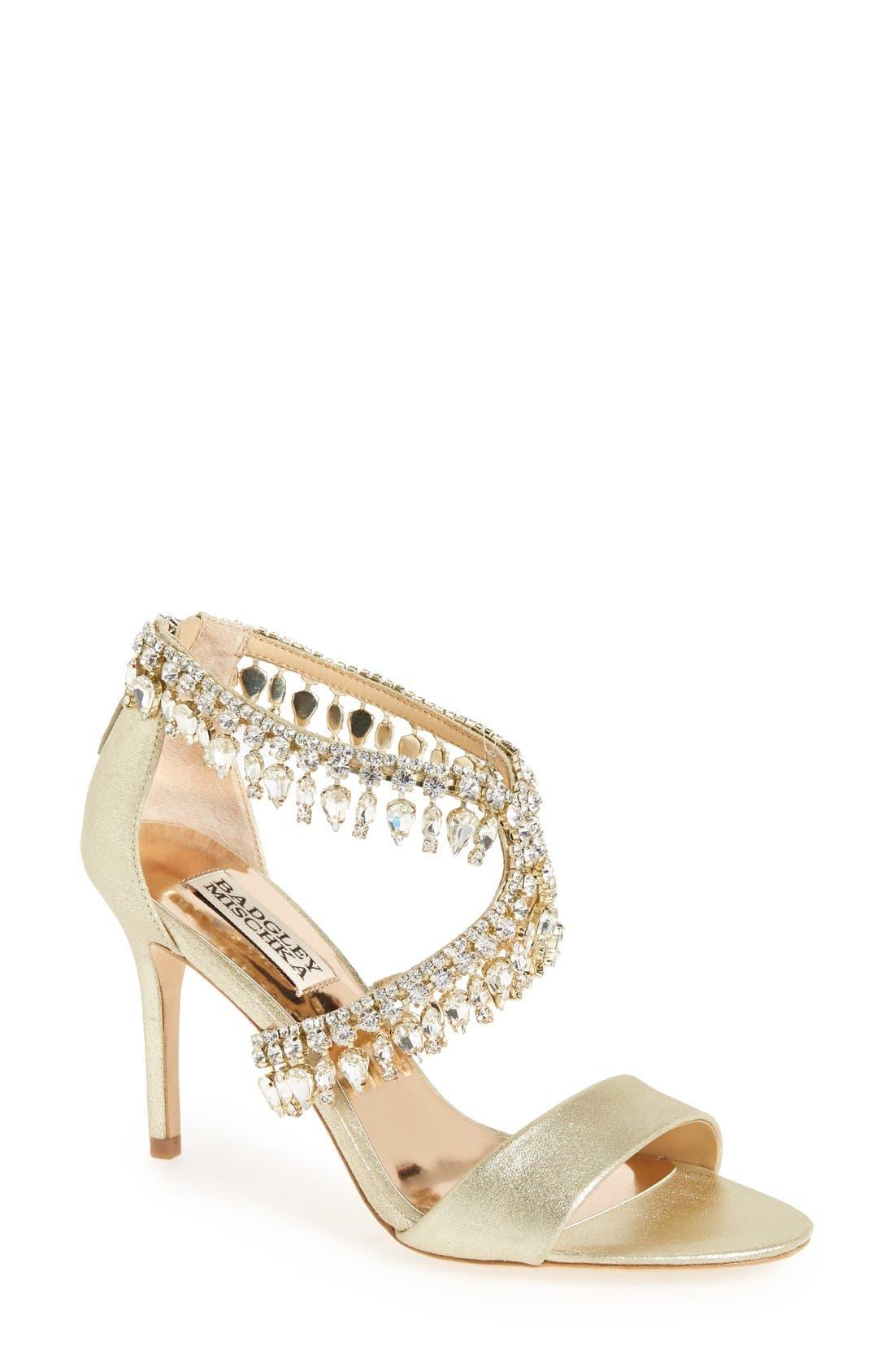Main Image - Badgley Mischka Crystal-Embellished Sandal (Women)