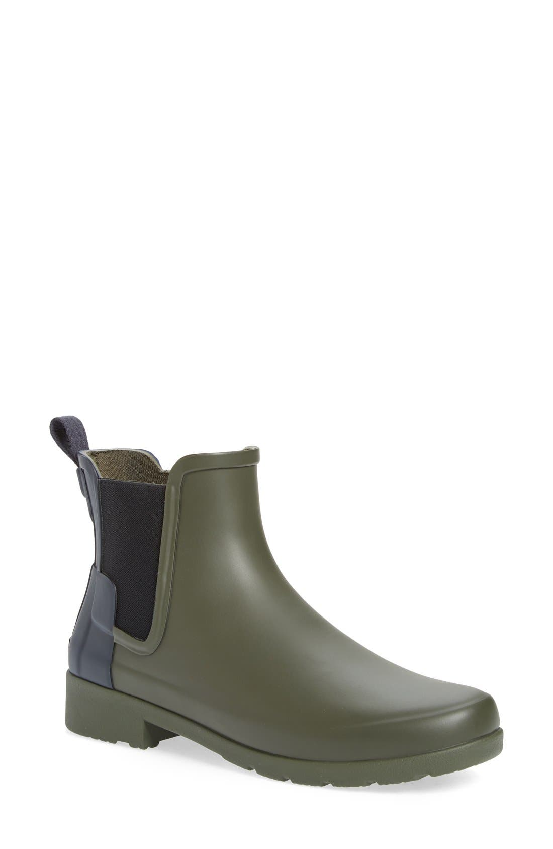 Main Image - Hunter 'Refined - Chelsea' Two-Tone Boot (Women)