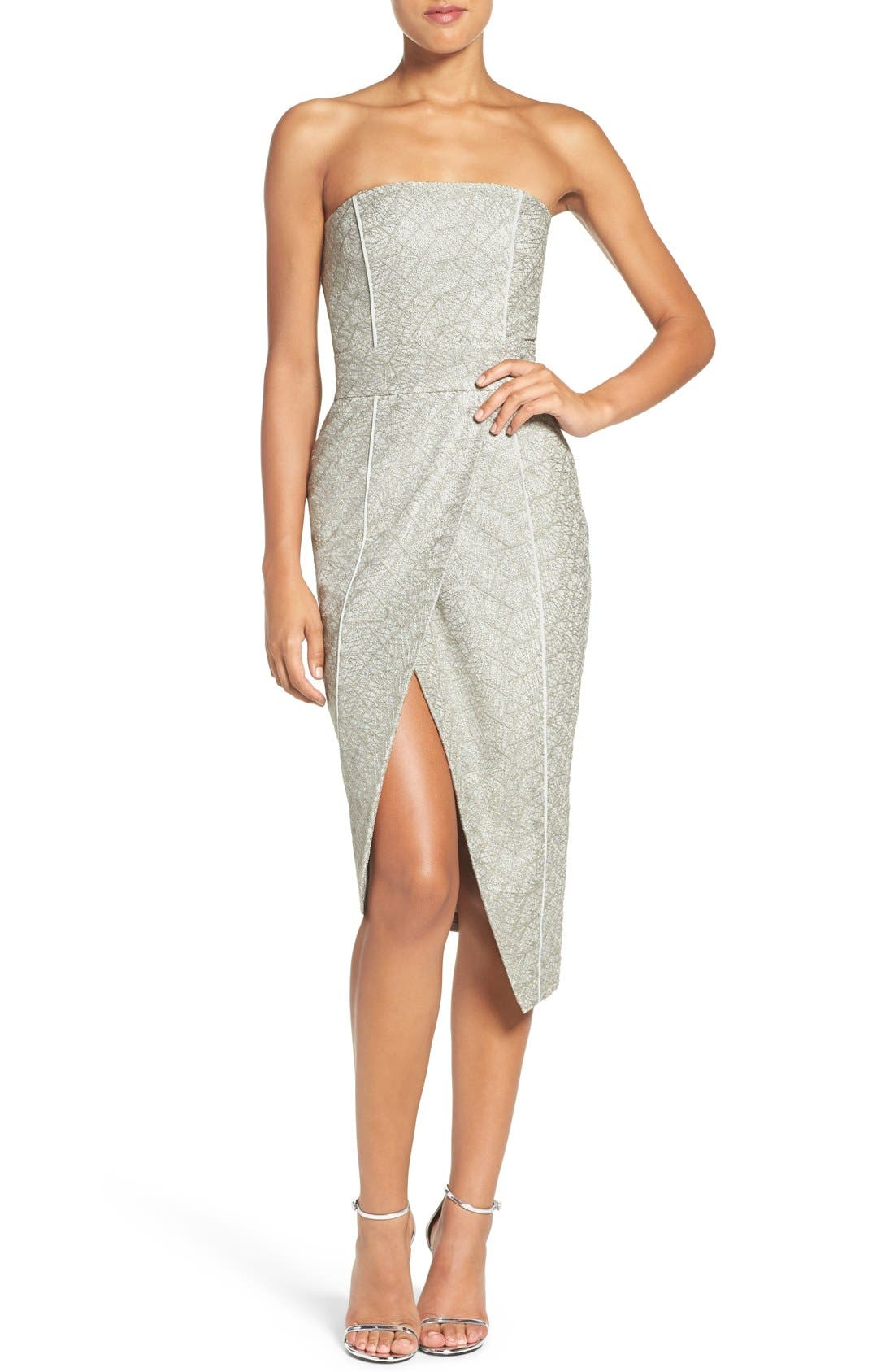 Alternate Image 2  - Misha Collection 'Olivia' Convertible Embroidered Asymmetrical Dress
