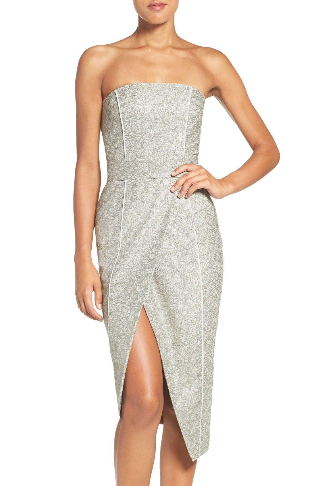 Alternate Image 1 Selected - Misha Collection 'Olivia' Convertible Embroidered Asymmetrical Dress