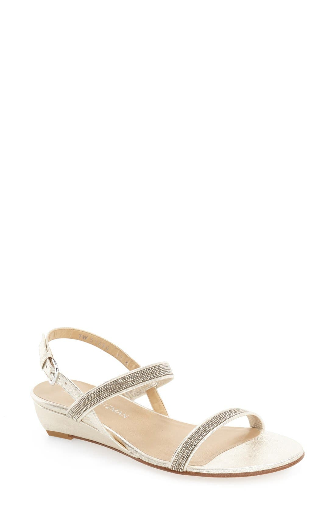 Alternate Image 1 Selected - Stuart Weitzman 'In Chains' Wedge Sandal (Women)