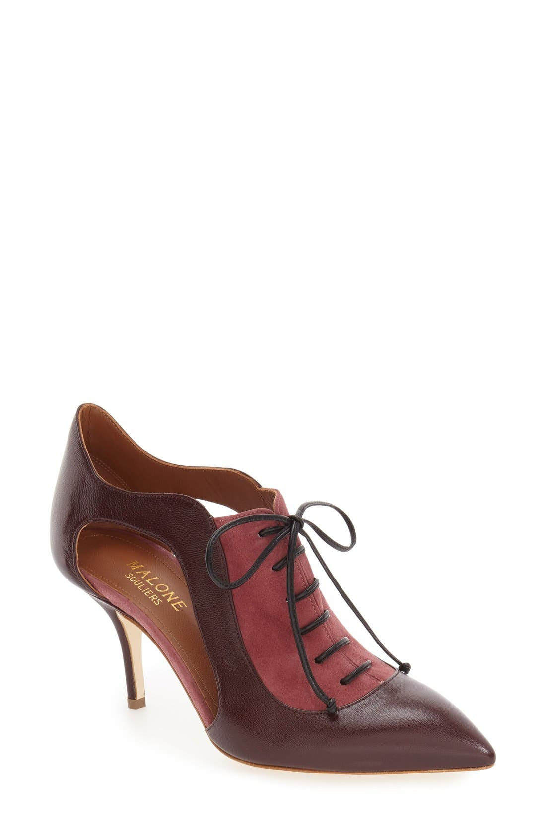 Alternate Image 1 Selected - Malone Souliers 'Lorraine' Lace-Up Pump (Women)