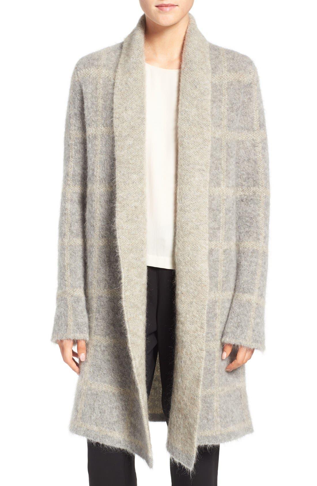 Main Image - Eileen Fisher Plush Open Front Long Cardigan