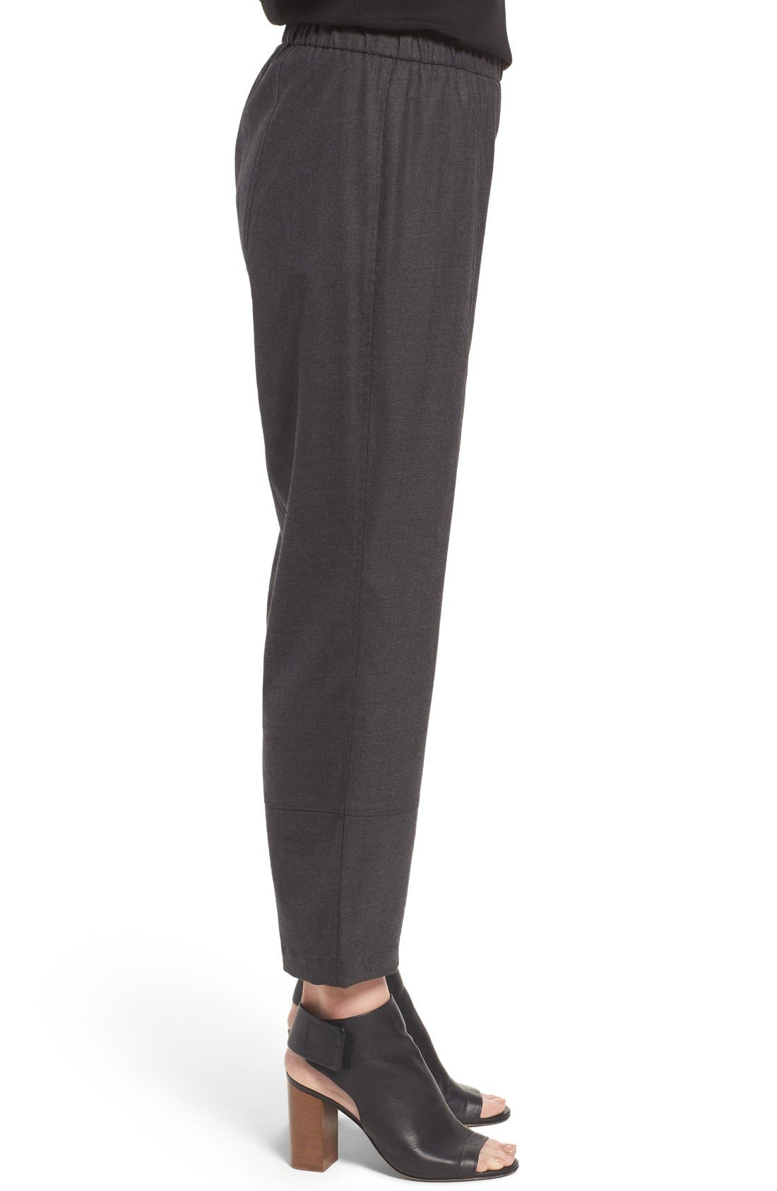 Alternate Image 3  - Eileen Fisher Stretch Flannel Twill Ankle Pants
