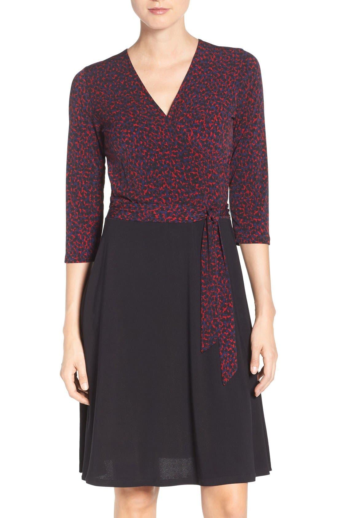 Leota 'Perfect Combo' Stretch Wrap Dress
