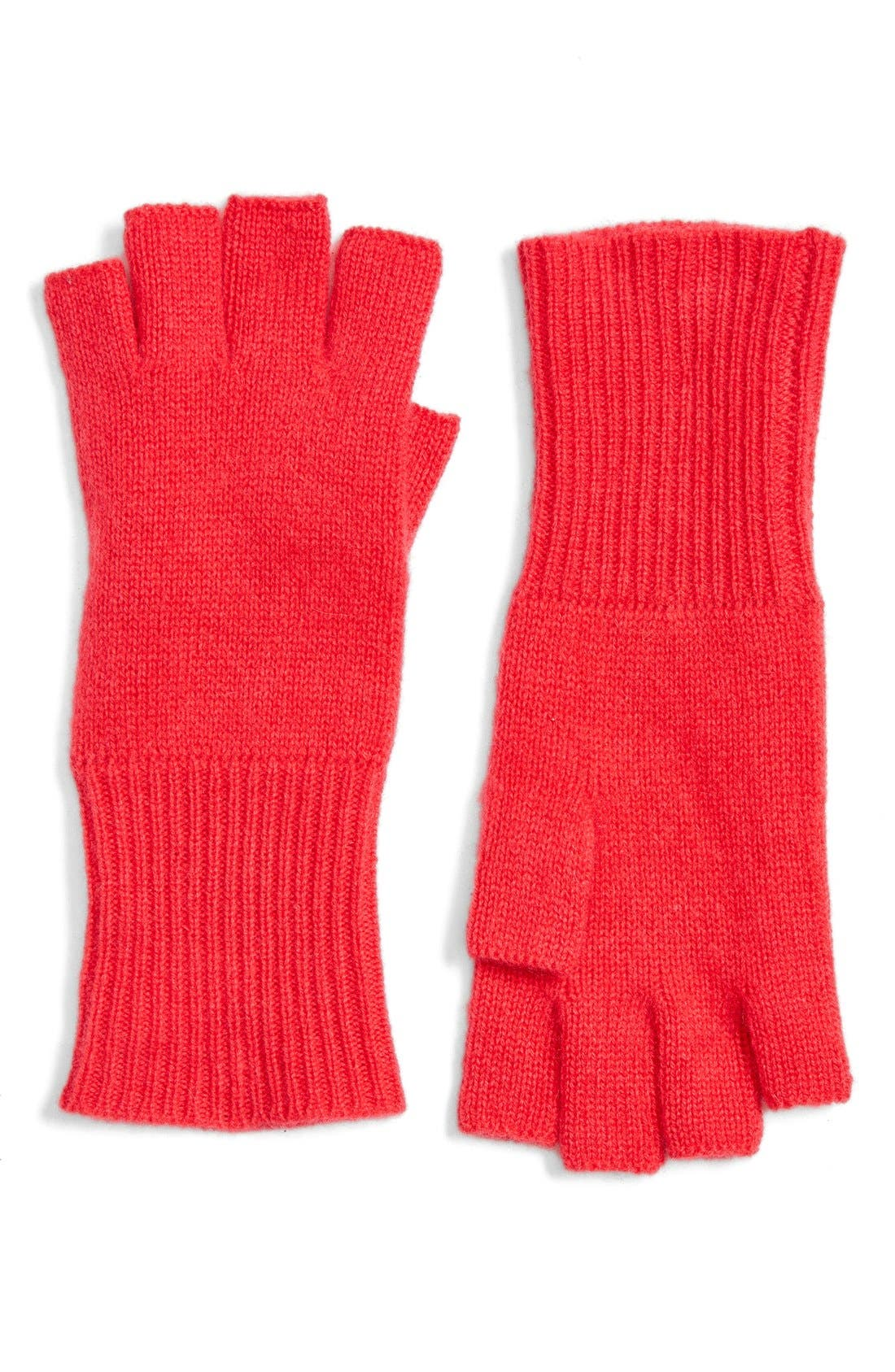 Main Image - Halogen® Cashmere Fingerless Gloves