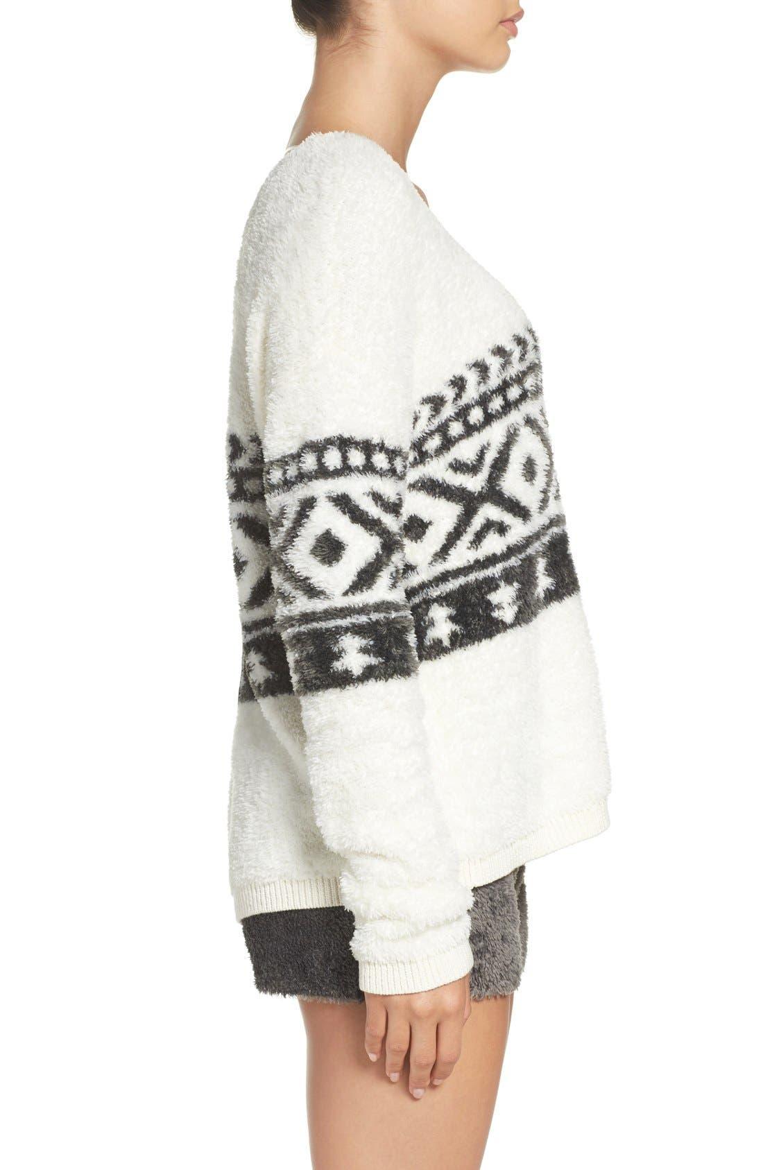 Alternate Image 3  - Make + Model Fuzzy Lounge Sweater