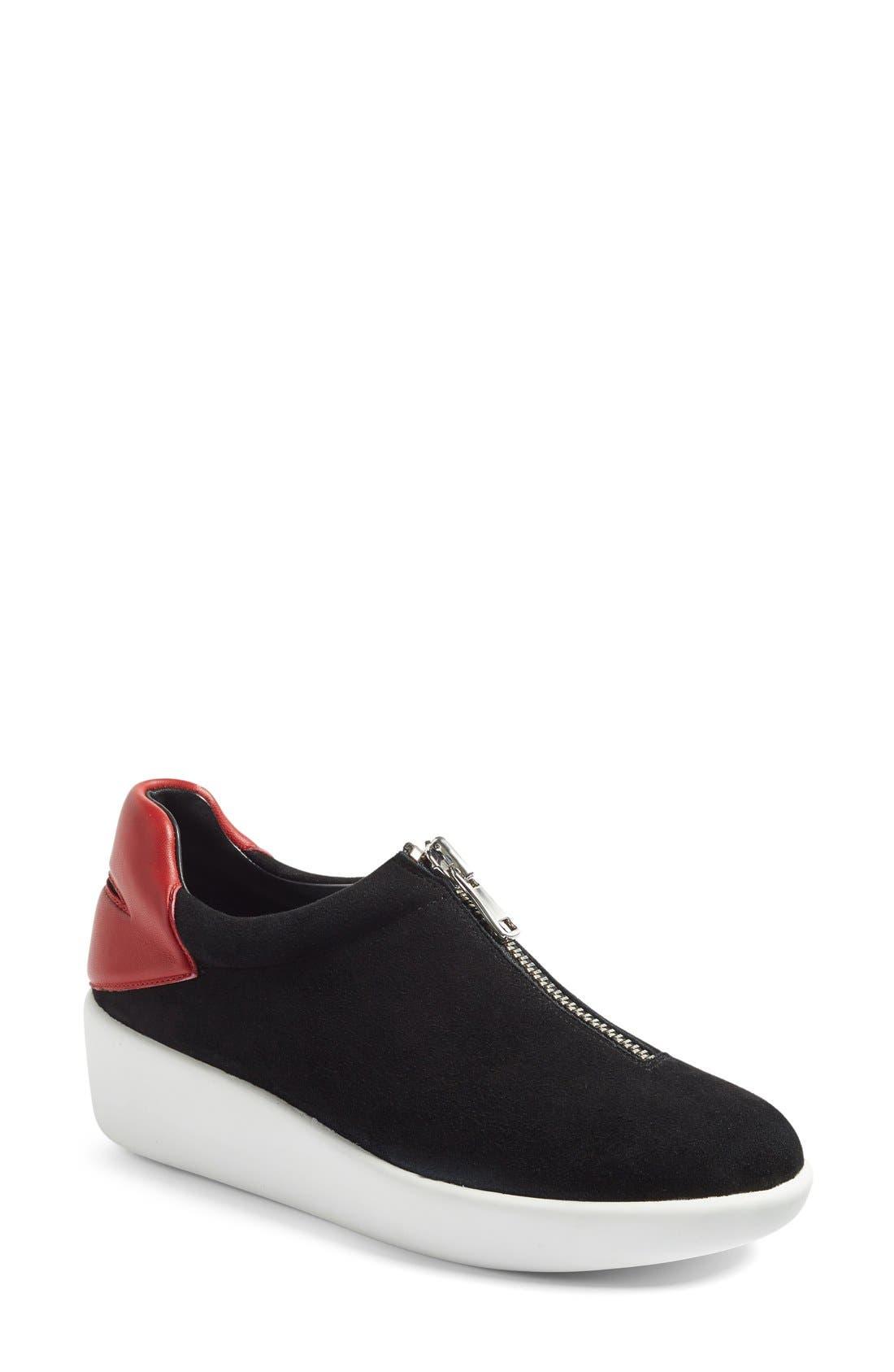 Alternate Image 1 Selected - Alice + Olivia 'Laney' Zip Platform Sneaker (Women)