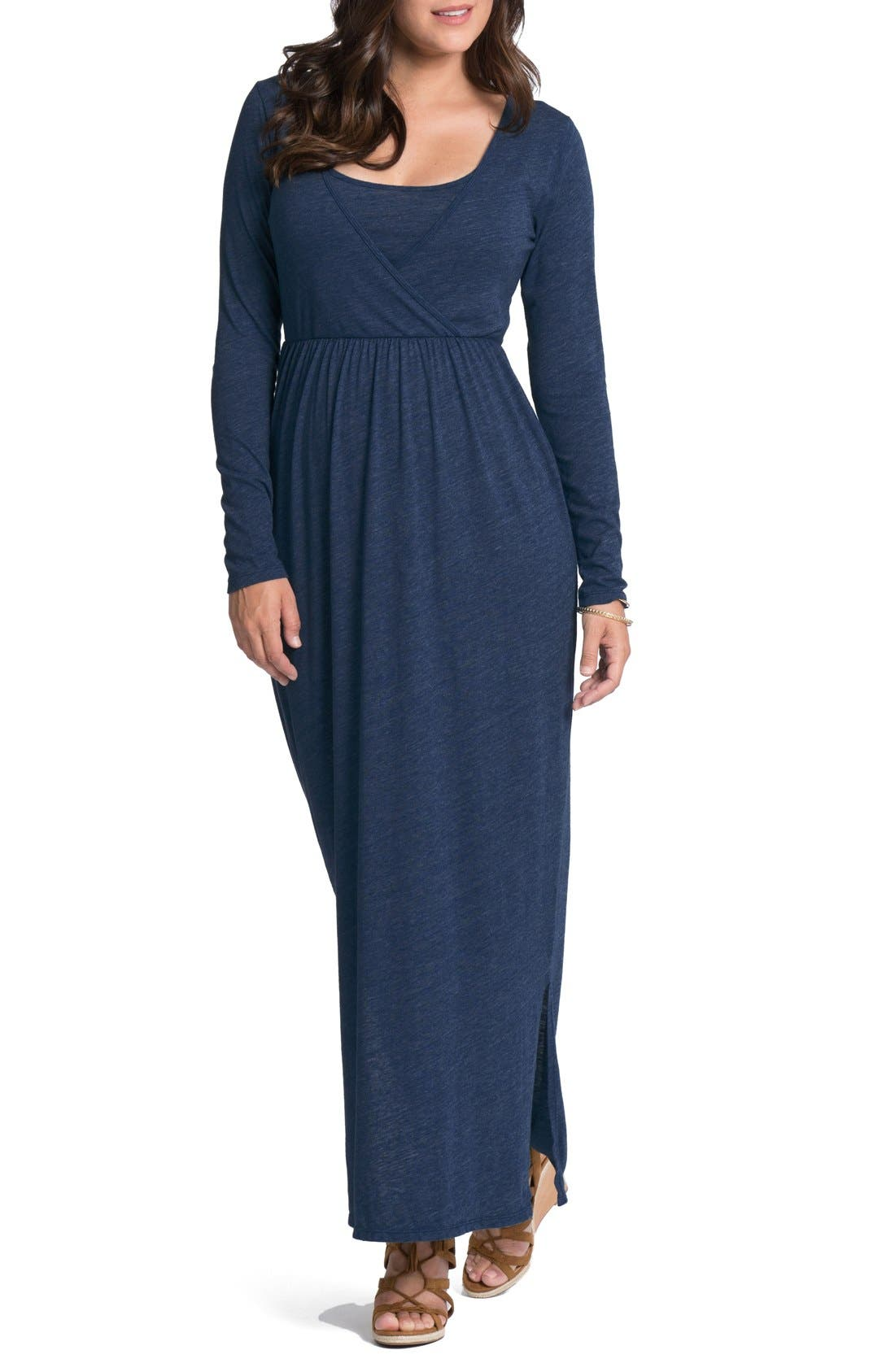 Bun Maternity Cross Top Maternity Maxi Dress