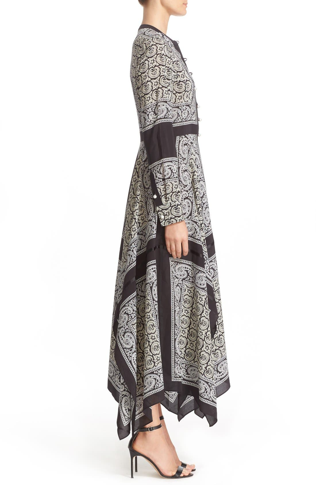 Alternate Image 5  - Altuzarra Paisley Print Handkerchief Hem Silk Dress
