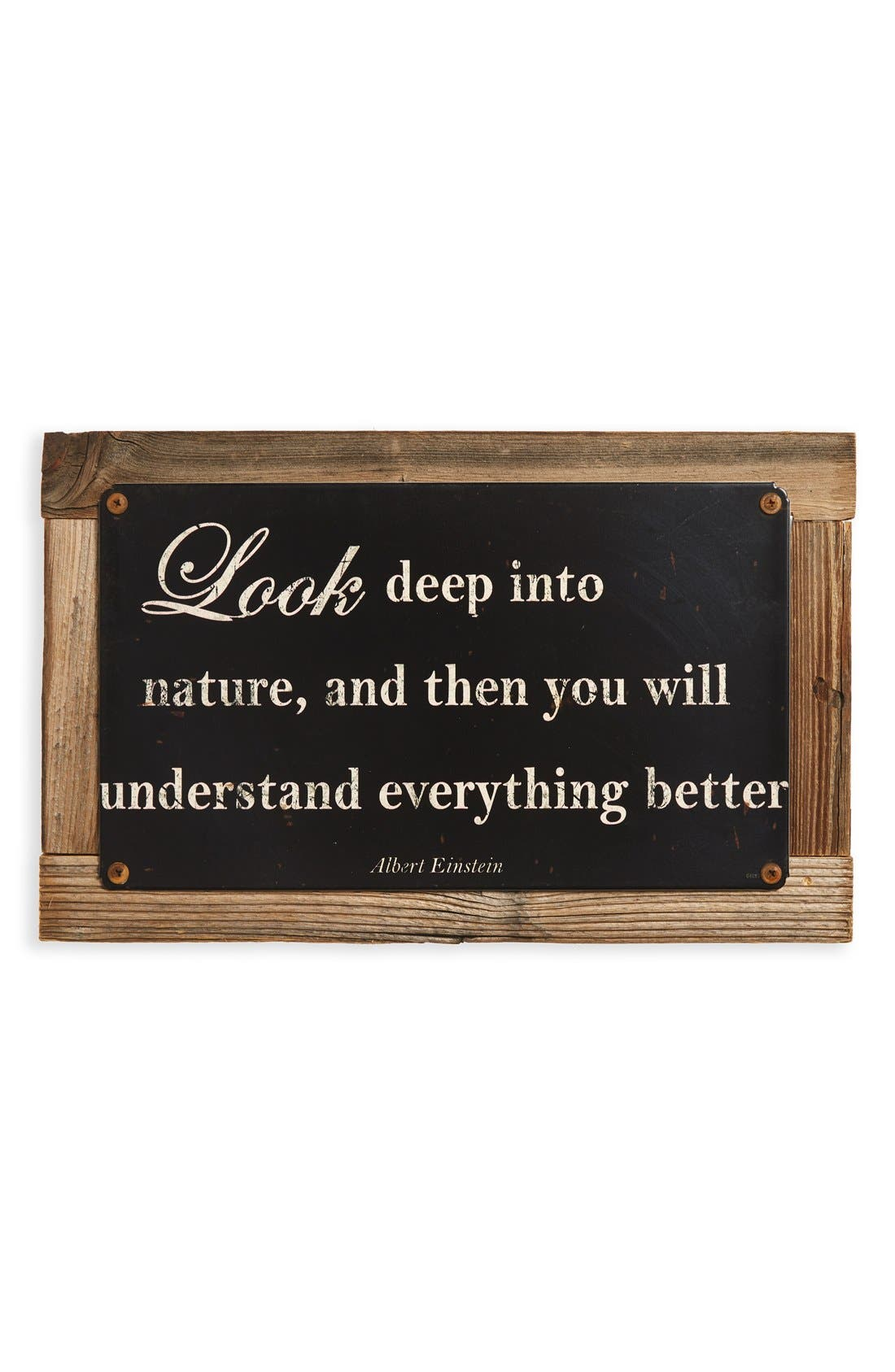 Main Image - Poncho & Goldstein 'Look Deep Into Nature' Sign