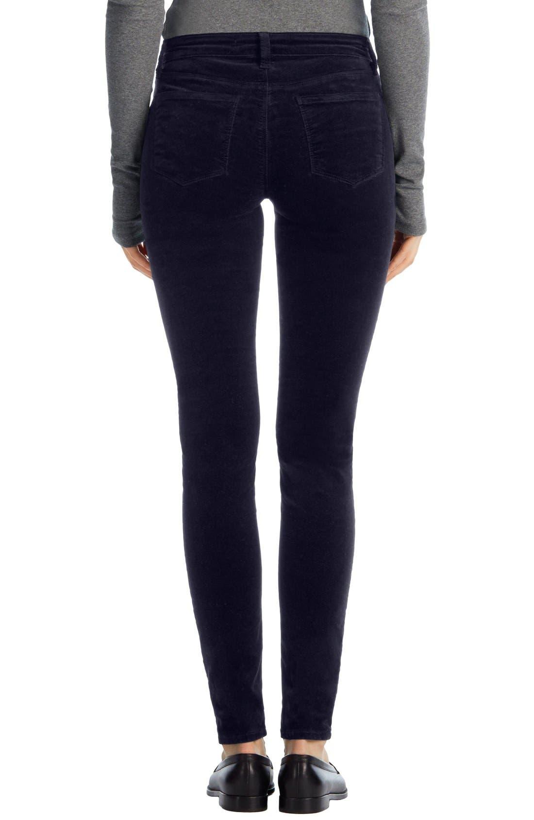 Alternate Image 2  - J Brand '815' Mid Rise Velveteen Super Skinny Jeans