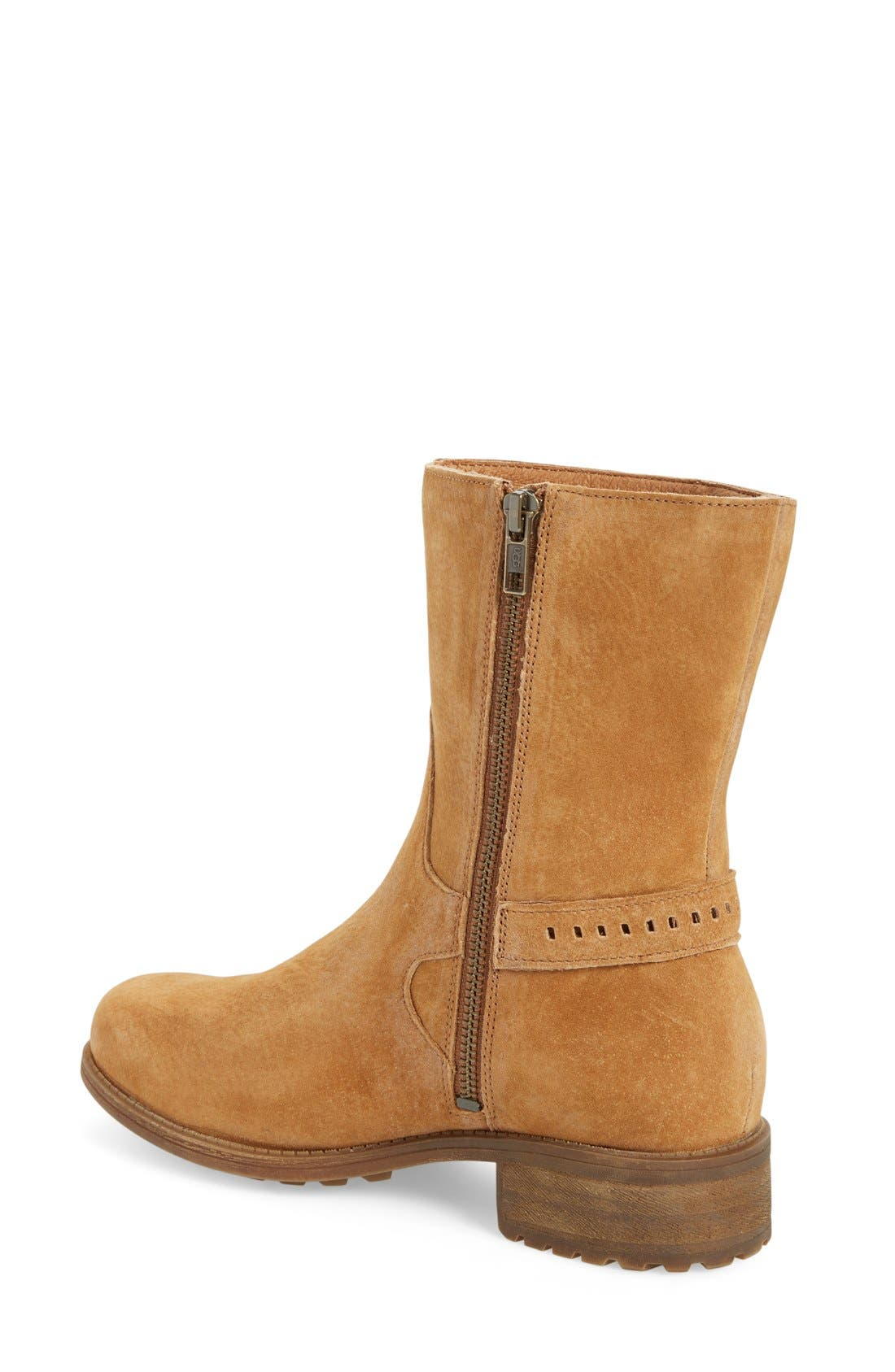 Alternate Image 2  - UGG® Keppler Genuine Shearling Lined Moto Boot (Women)