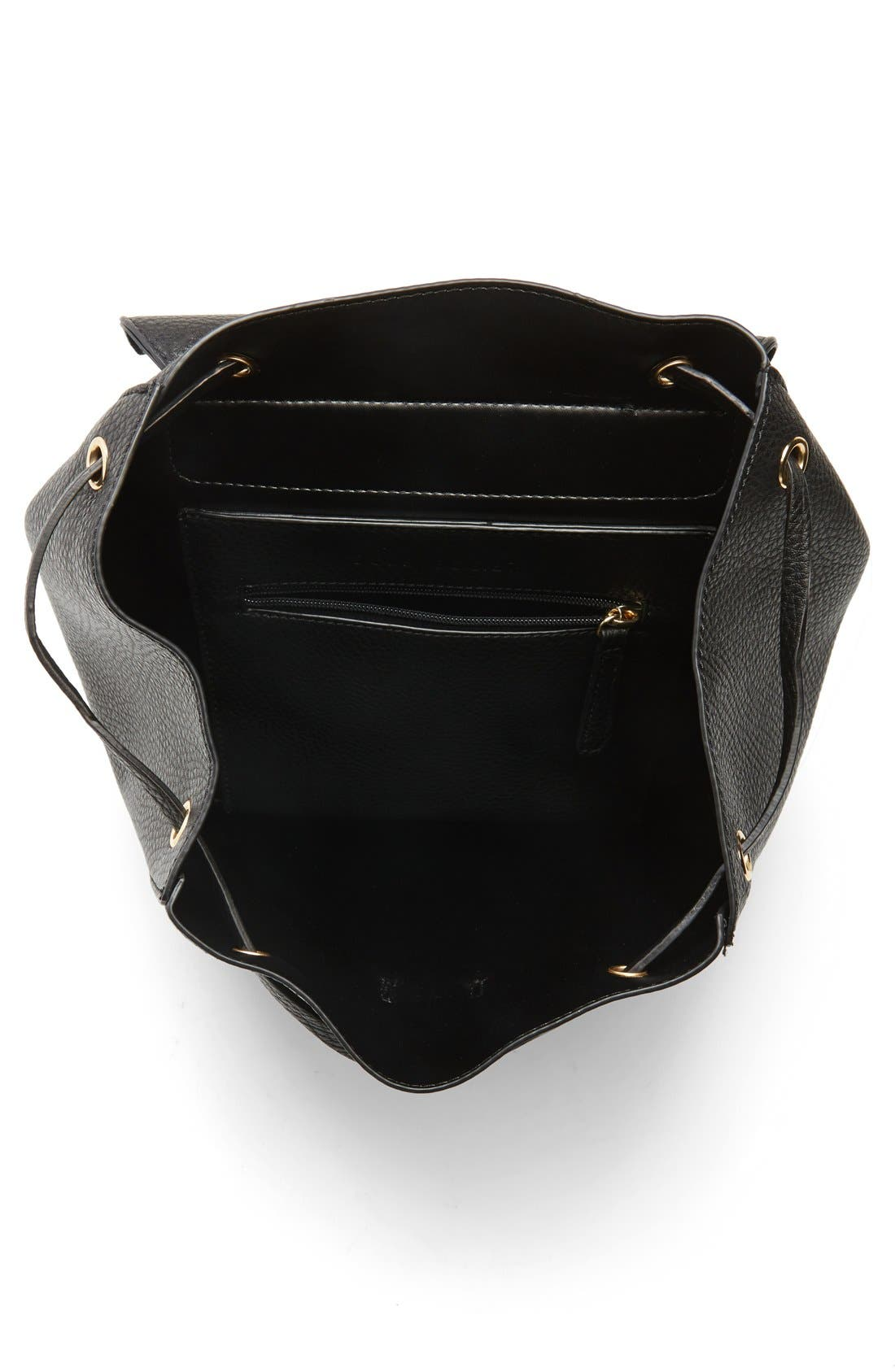 Alternate Image 4  - Sole Society 'Iver' Faux Leather Drawstring Backpack