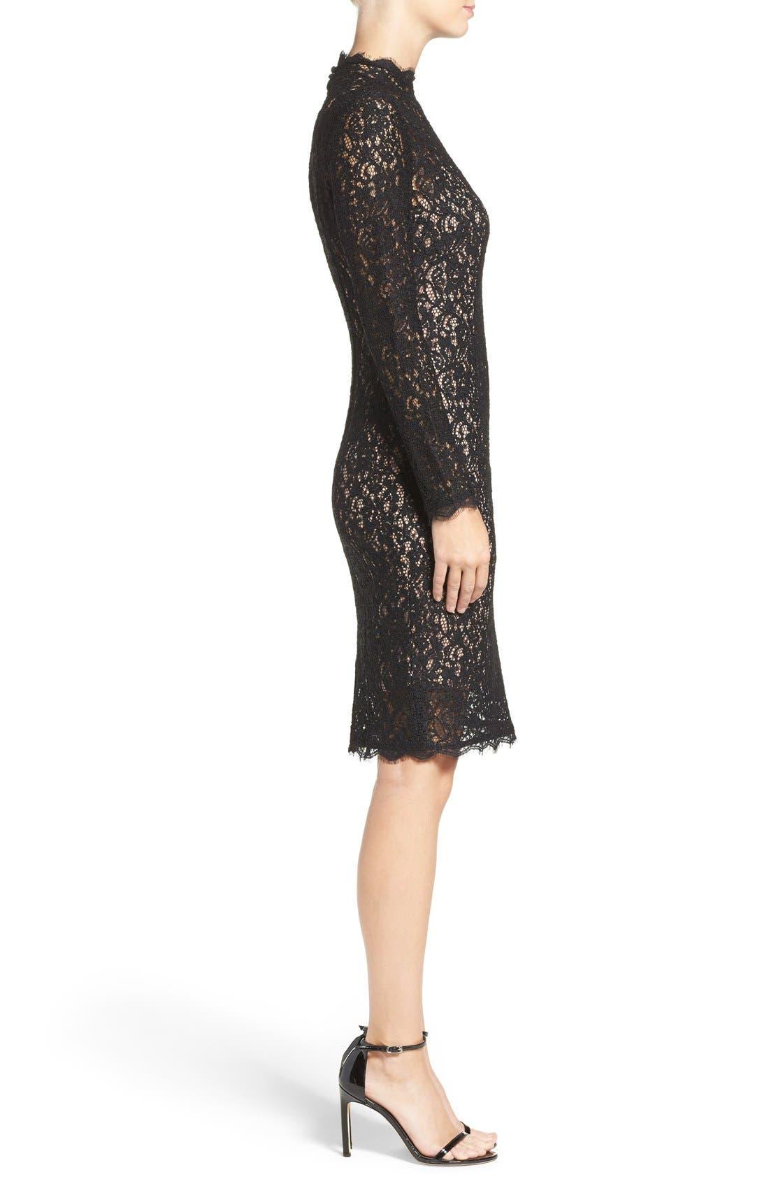 Alternate Image 3  - Adrianna Papell Corded Lace Sheath Dress (Regular & Petite)