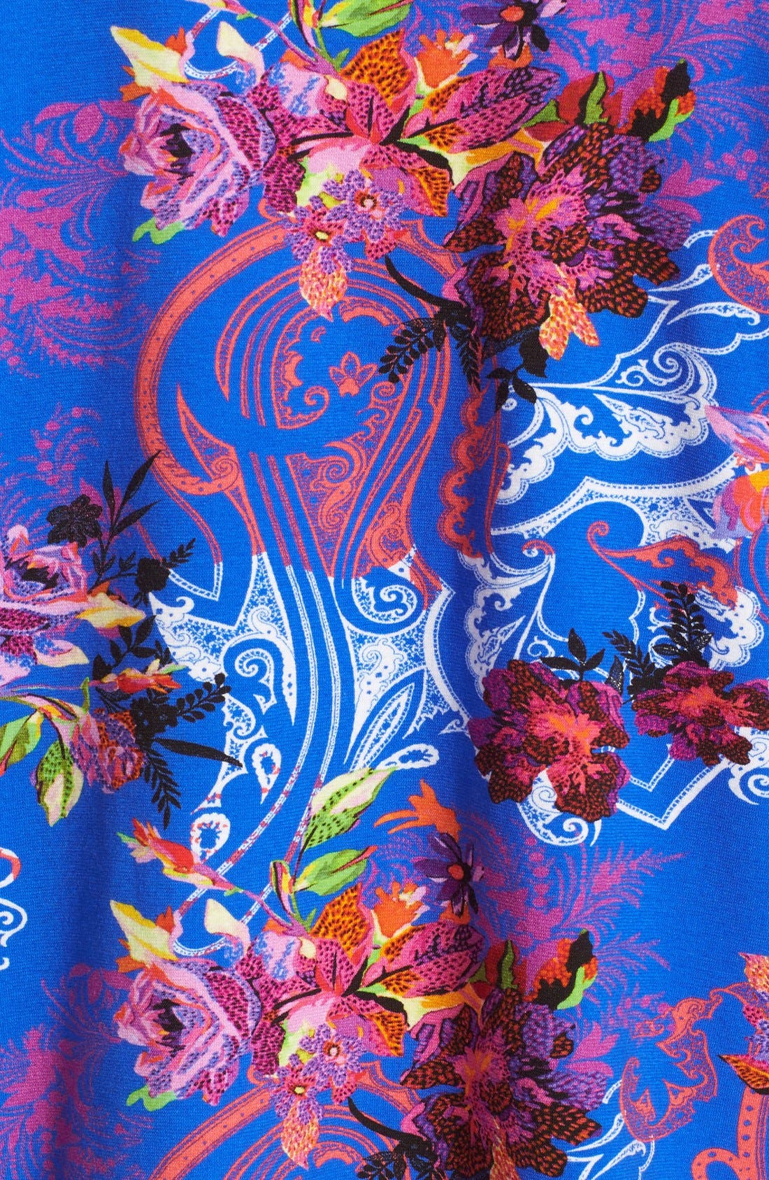 Alternate Image 3  - Etro Floral Print Stretch Cotton Tee