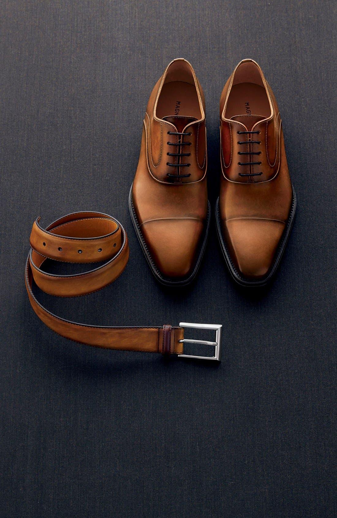 Alternate Image 3  - Magnanni Catalux Leather Belt