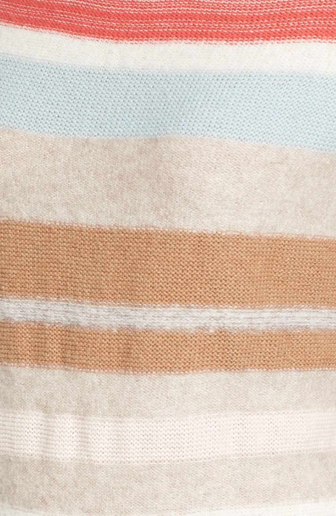 Alternate Image 5  - Caslon® Back Button Stripe Knit Sweater (Regular & Petite)