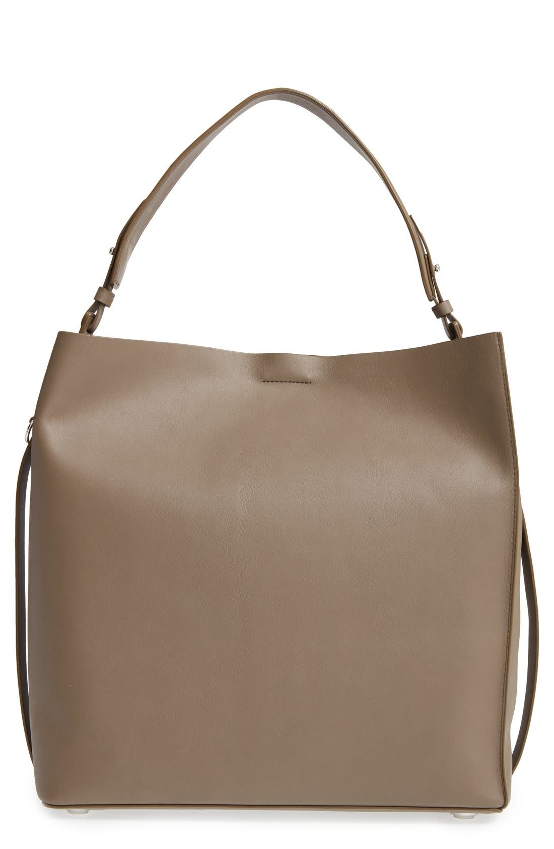 ALLSAINTS 'Paradise North/South' Calfskin Leather Tote