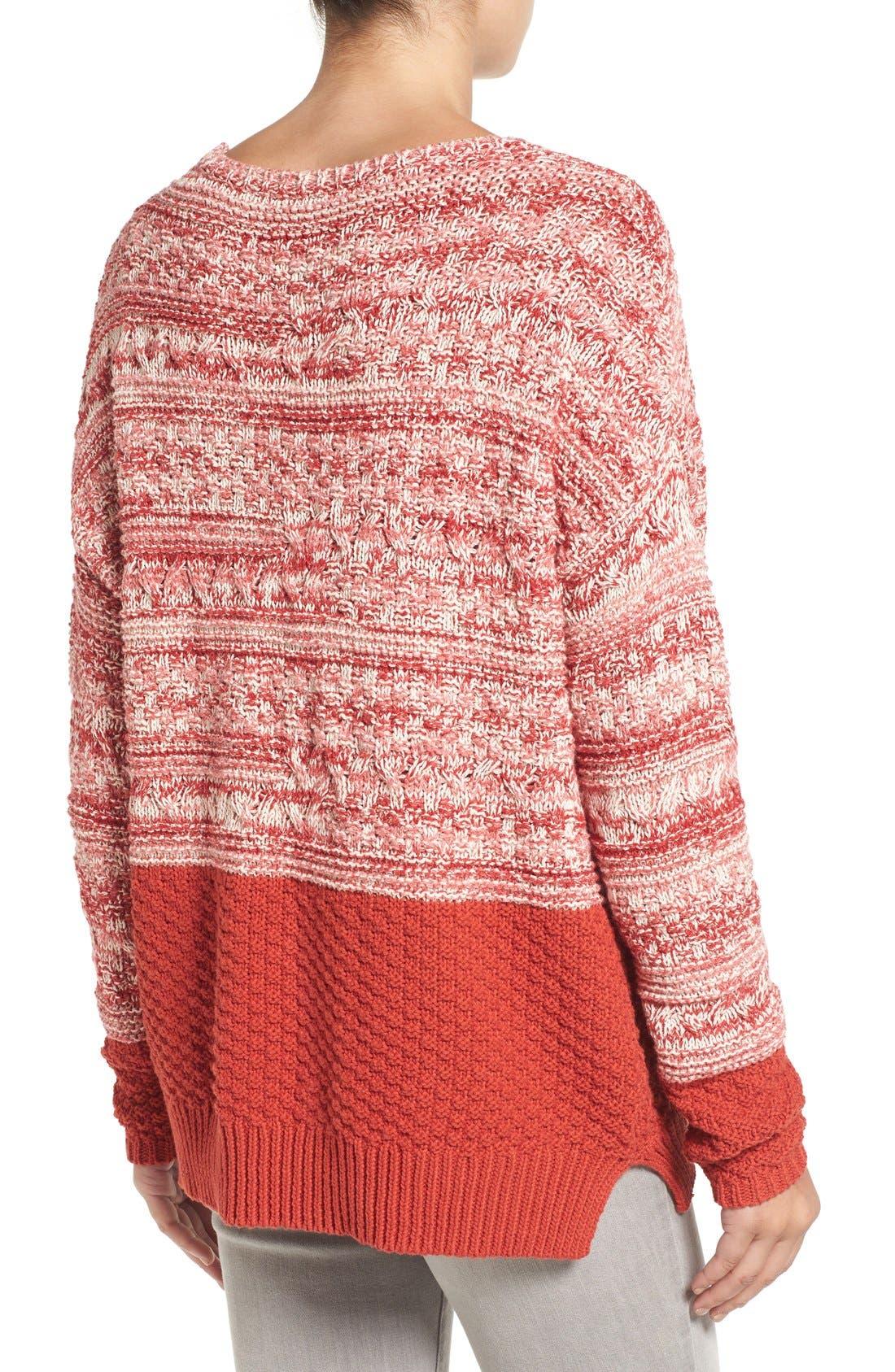 Alternate Image 3  - Caslon® Colorblock Marl Knit Sweater