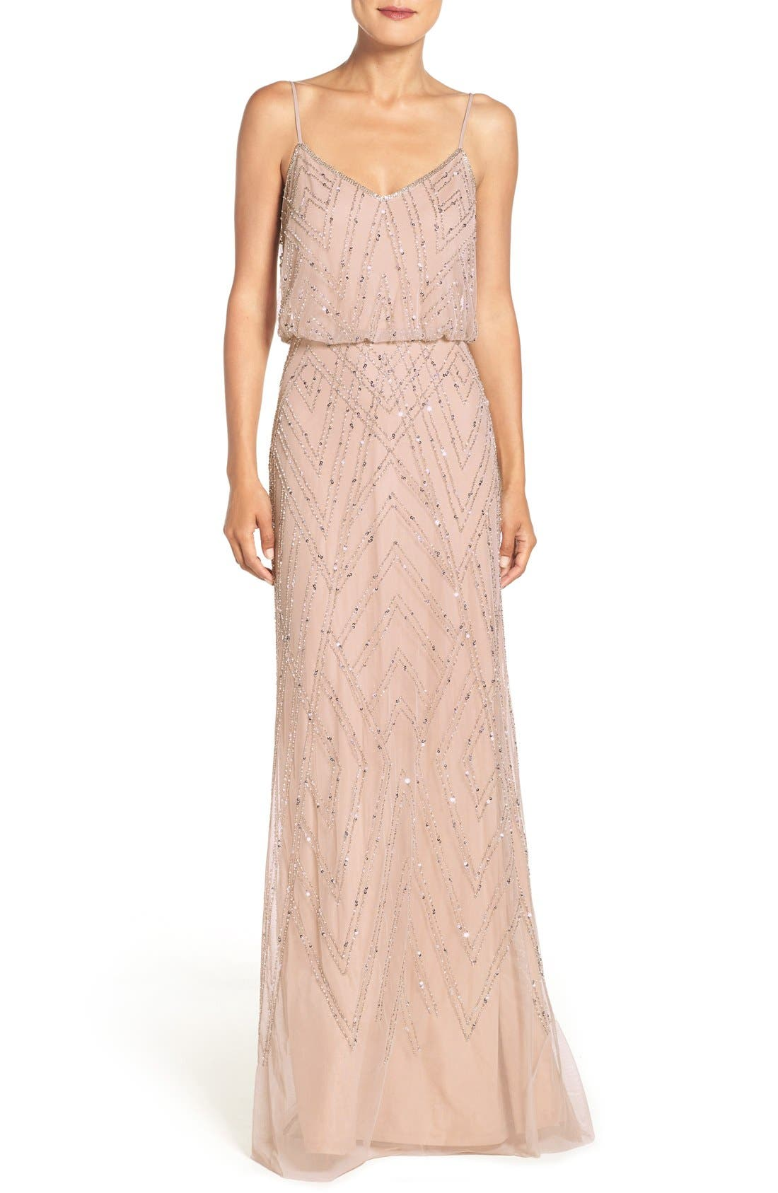 Main Image - Adrianna Papell Embellished Blouson Gown