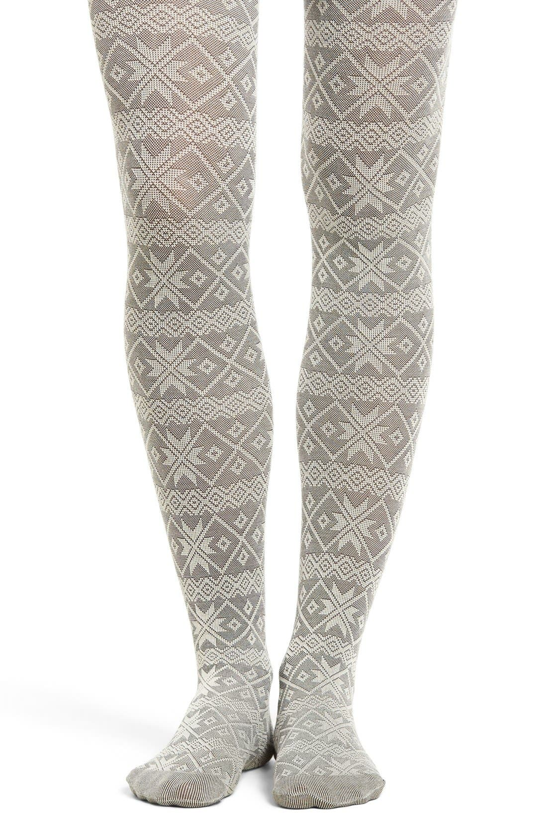 Alternate Image 1 Selected - Hue Fair Isle Sweater Tights