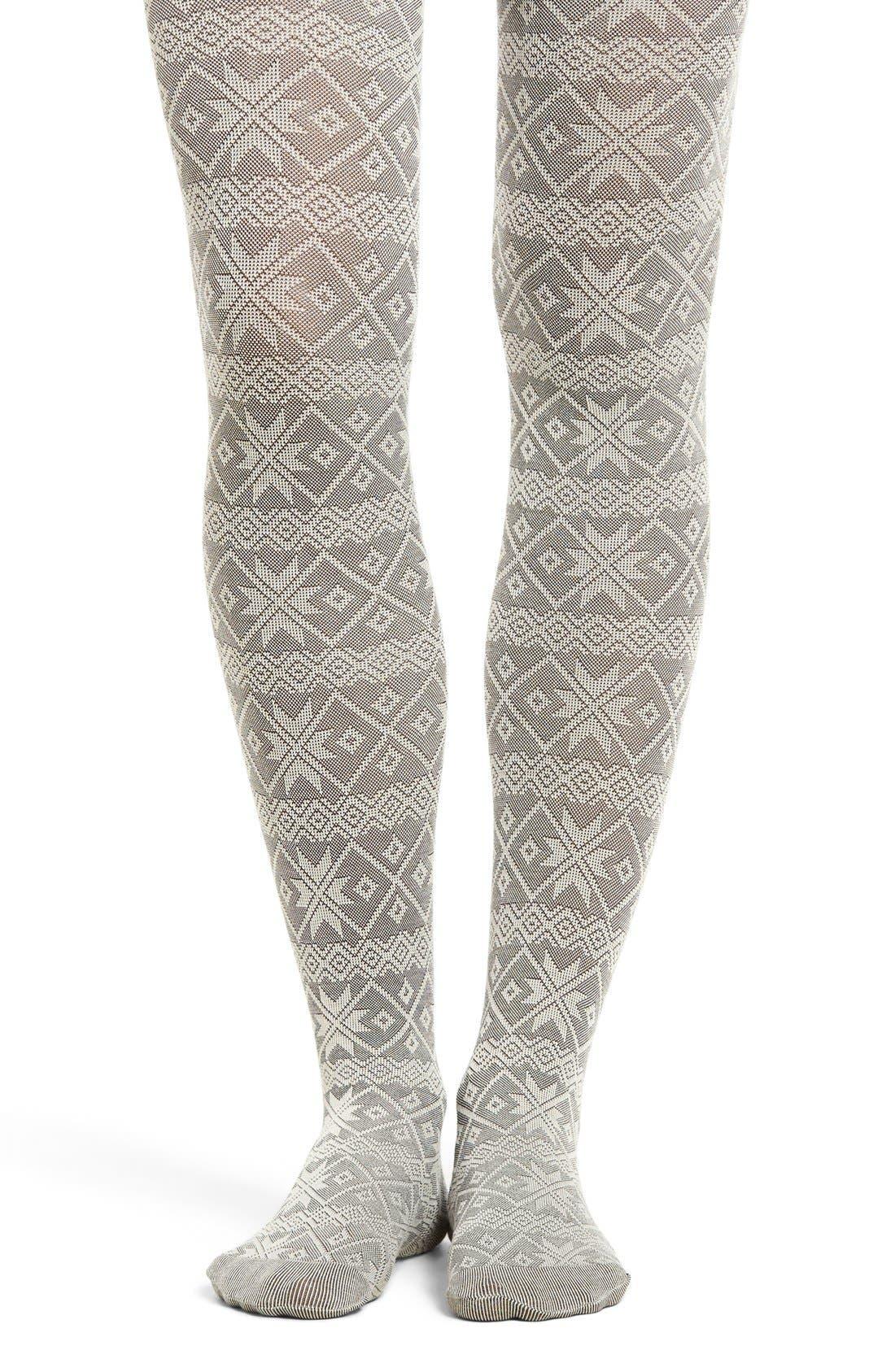 Main Image - Hue Fair Isle Sweater Tights