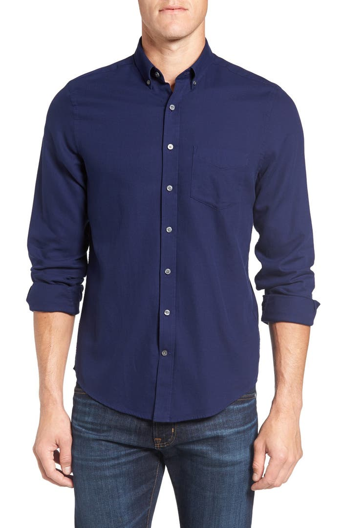 Gant slim fit luxe flannel sport shirt nordstrom for Women s slim fit flannel shirt