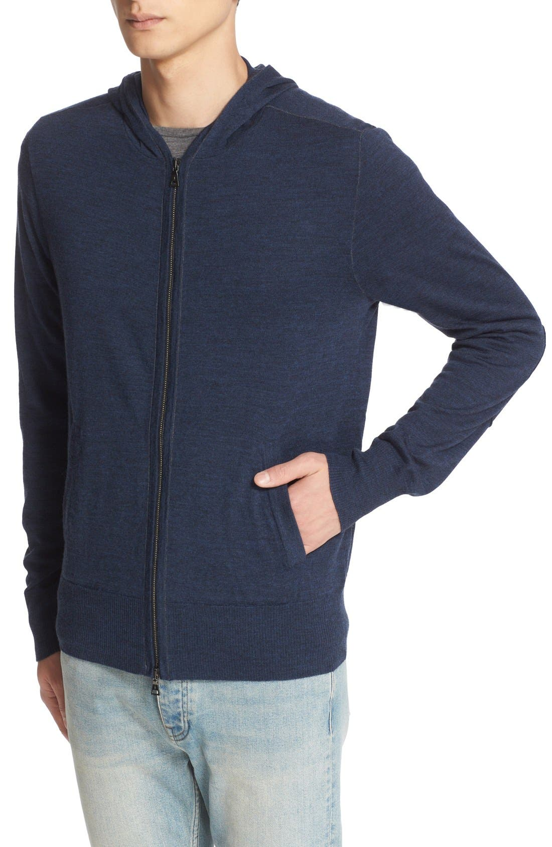 Alternate Image 4  - John Varvatos Collection Merino Wool Zip Hoodie